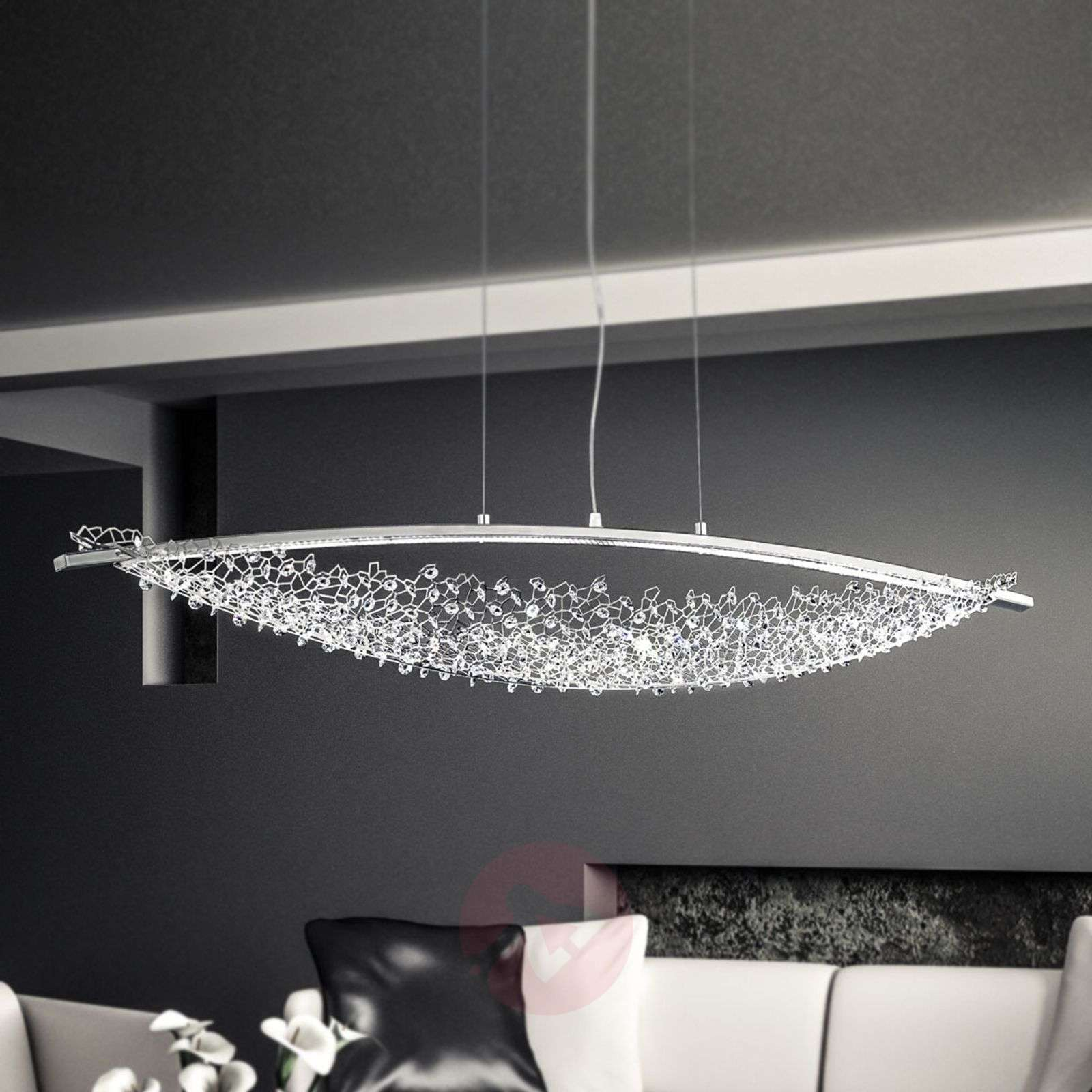 132 cm lang led pendellamp amaca m swarovski. Black Bedroom Furniture Sets. Home Design Ideas