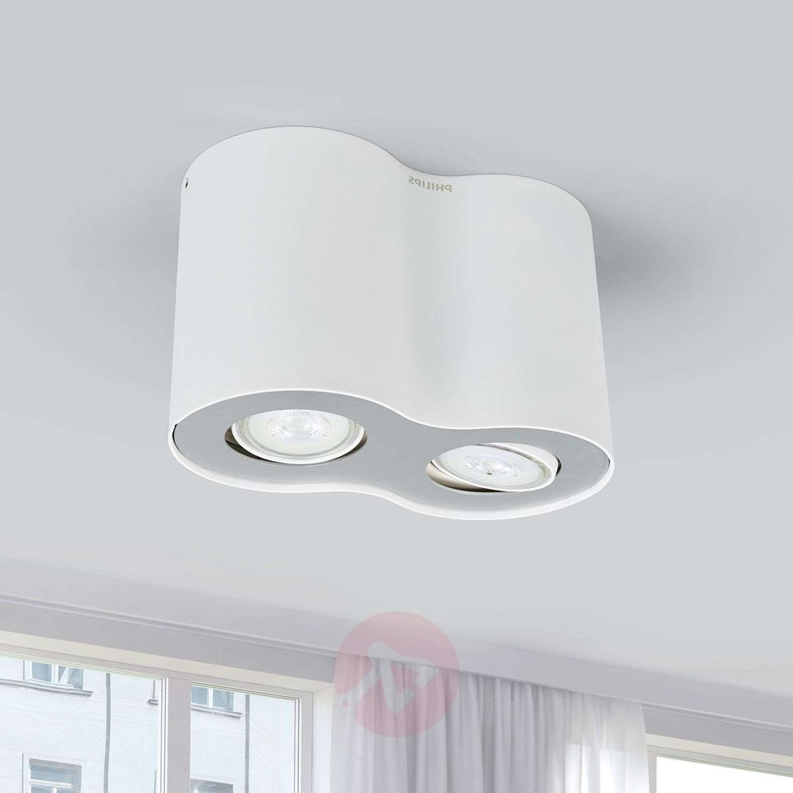 2-Spots LED opbouwplafondlamp Pillar in wit-7531895-01