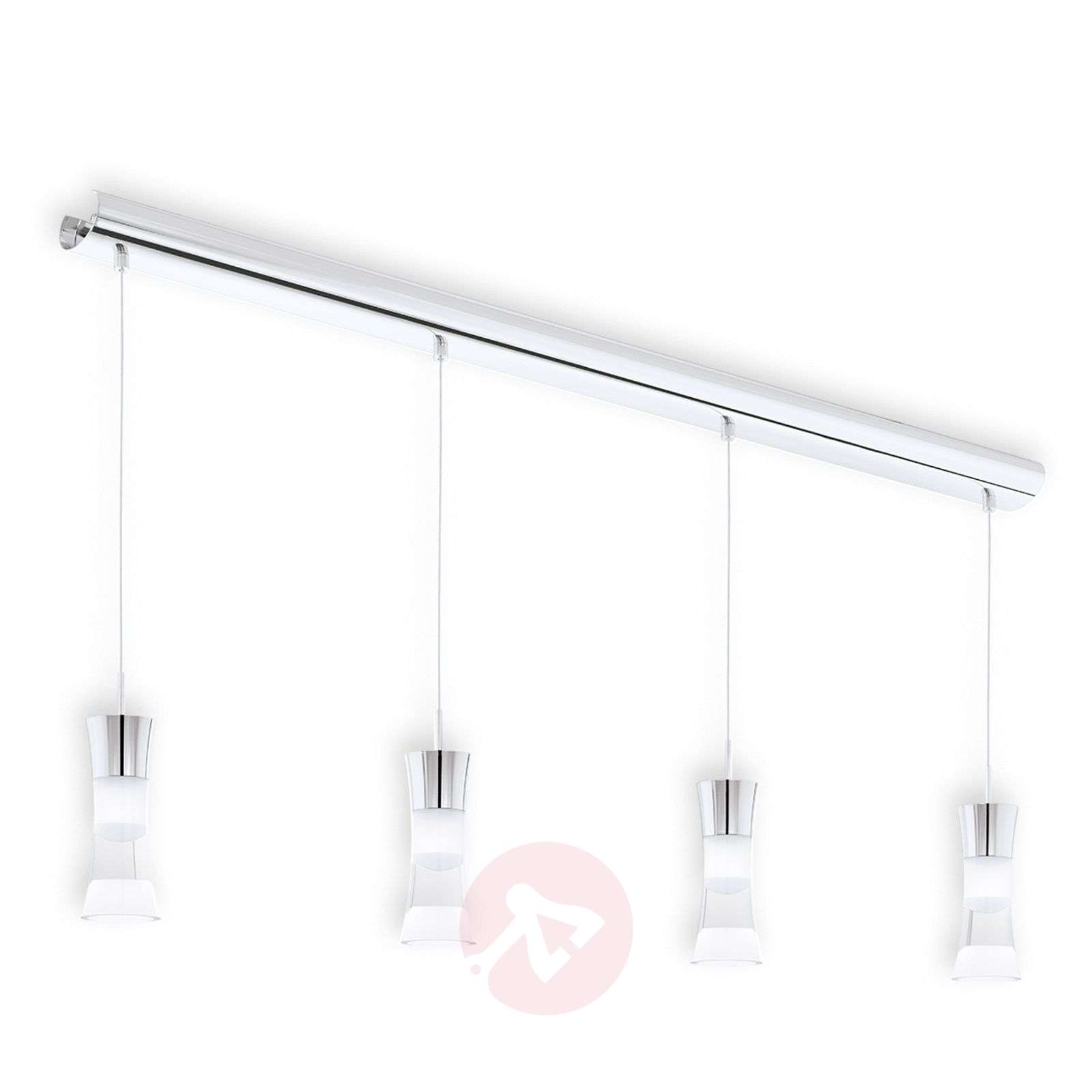 4 lichtbronnen LED hanglamp Pancento uit staal-3031743-01