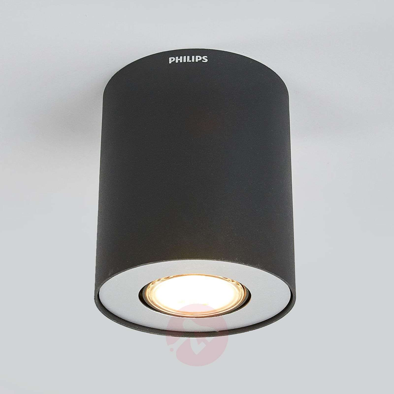 cilindische led opbouwspot pillar in zwart. Black Bedroom Furniture Sets. Home Design Ideas