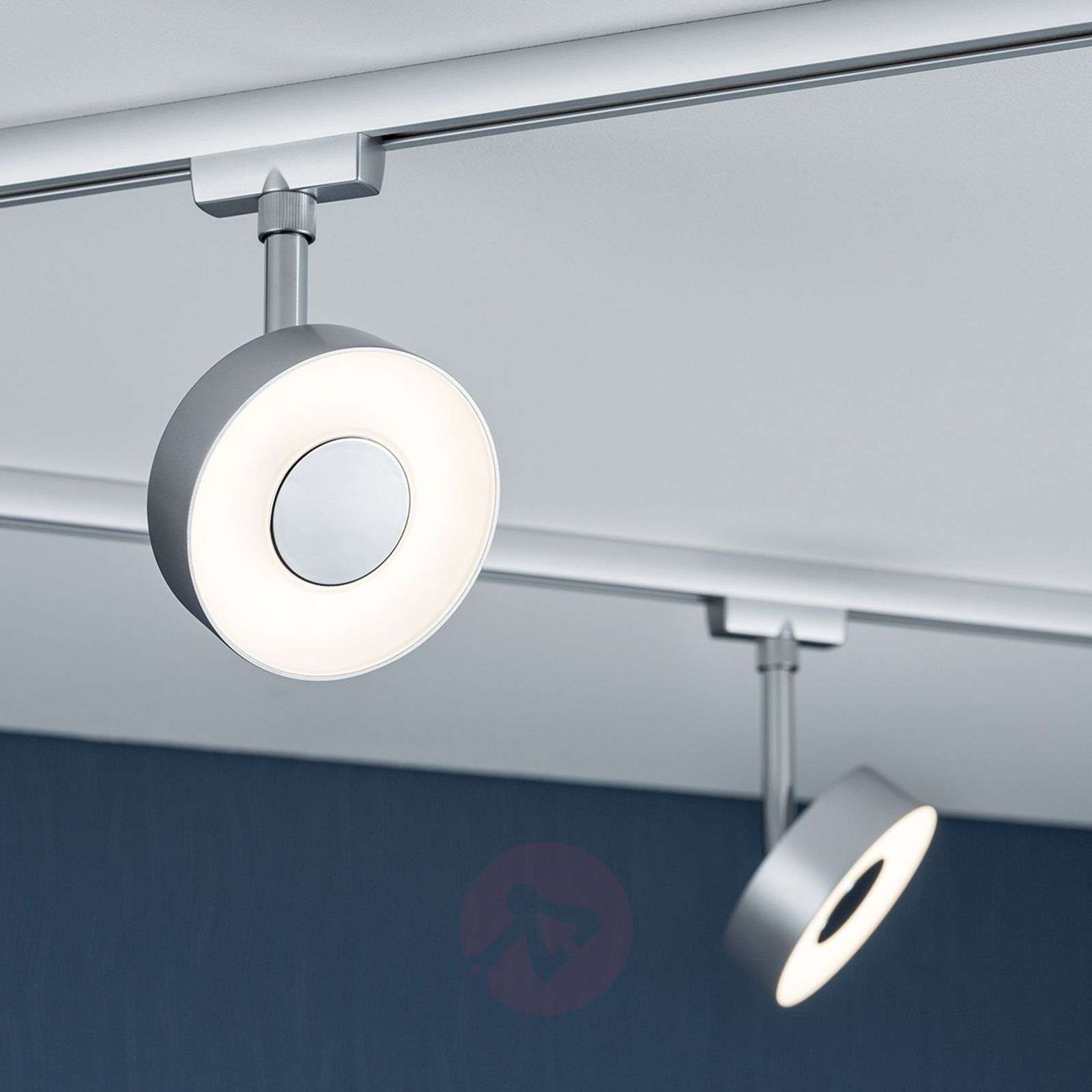 circle led spot voor railsysteem u rail chroom. Black Bedroom Furniture Sets. Home Design Ideas