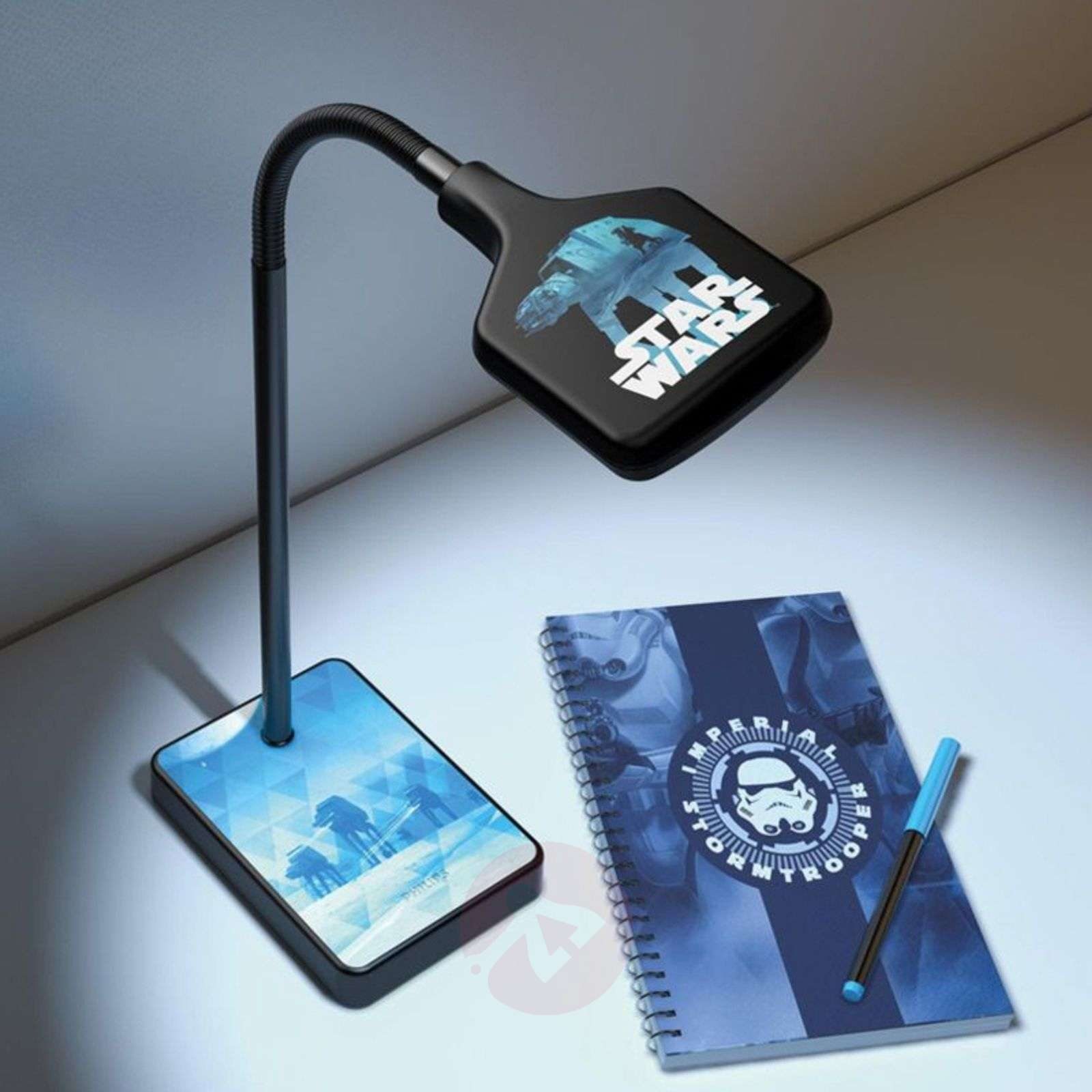 geweldige led bureaulamp star wars. Black Bedroom Furniture Sets. Home Design Ideas