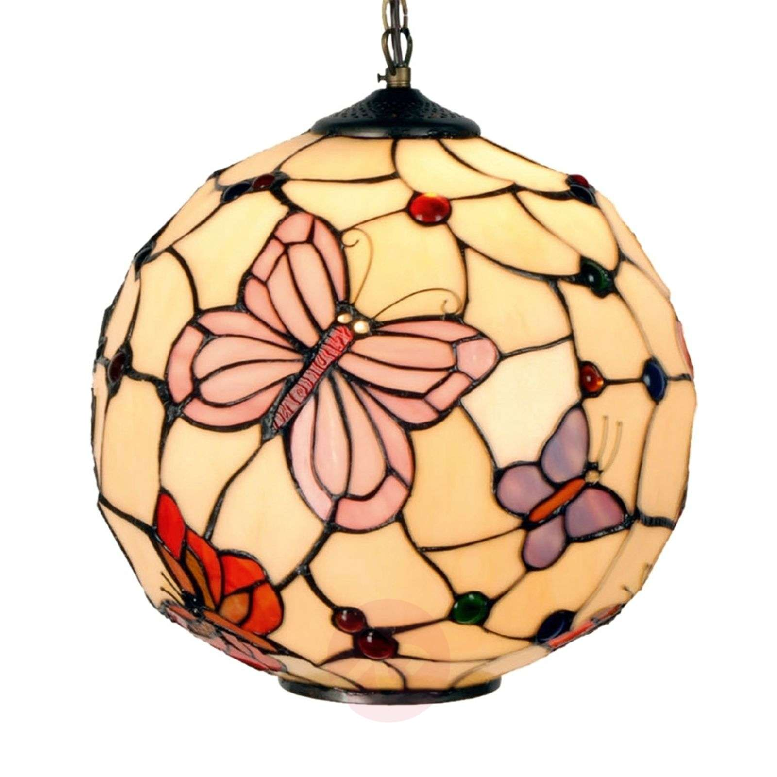 aca28a9dc3d10 Hanglamp Rosy Butterfly in Tiffany-stijl-6064008-01 ...
