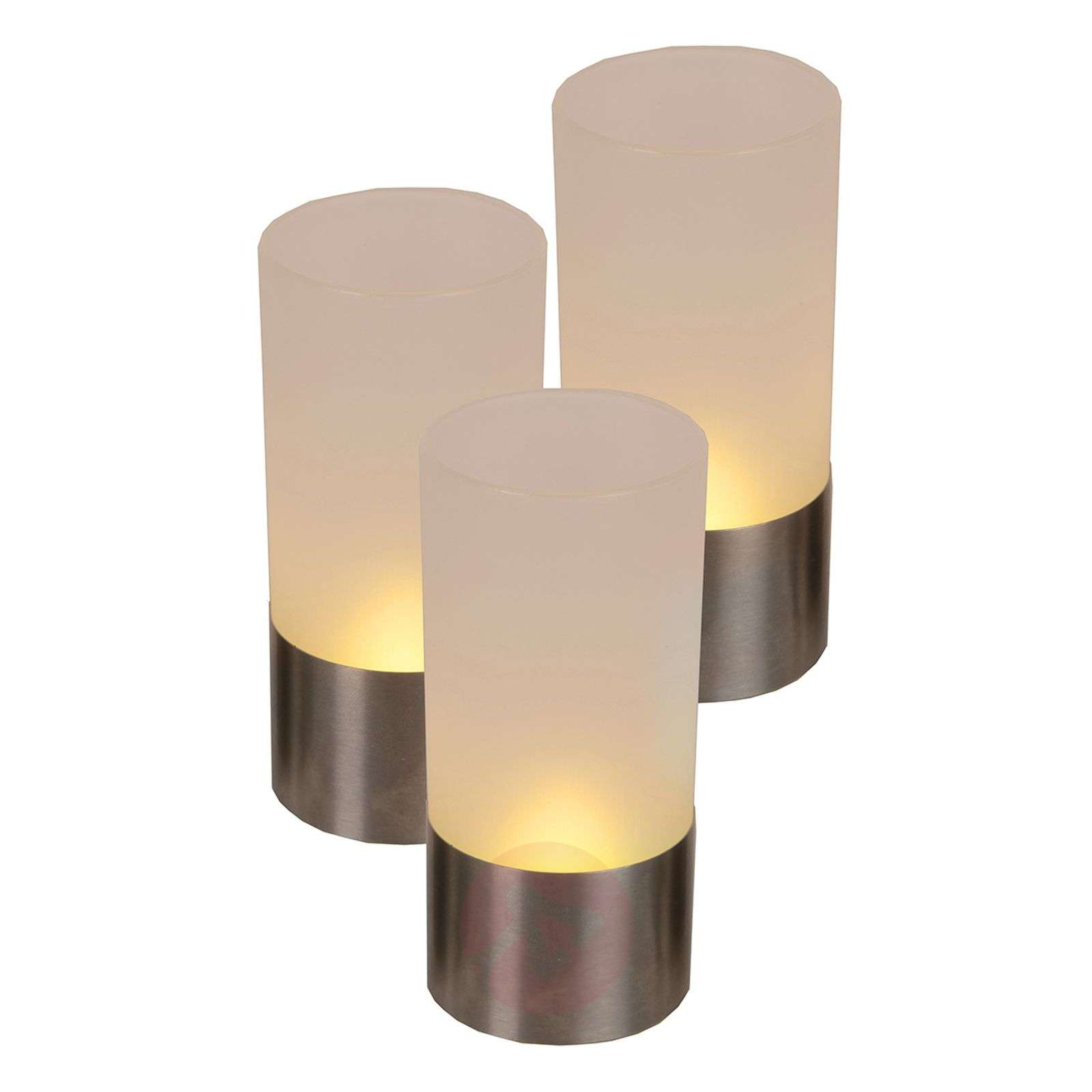 Modern led windlicht set van 3 for Windlicht modern