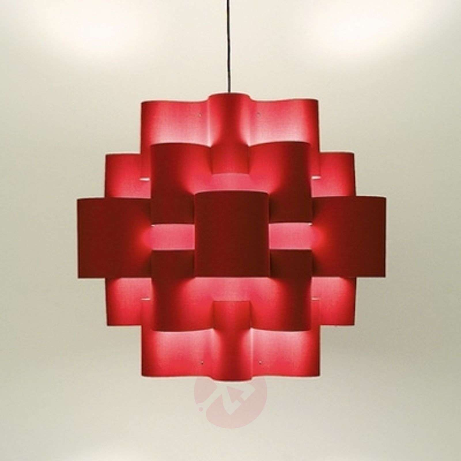 Red Sun imposante hanglamp in warm rood-5501087-01