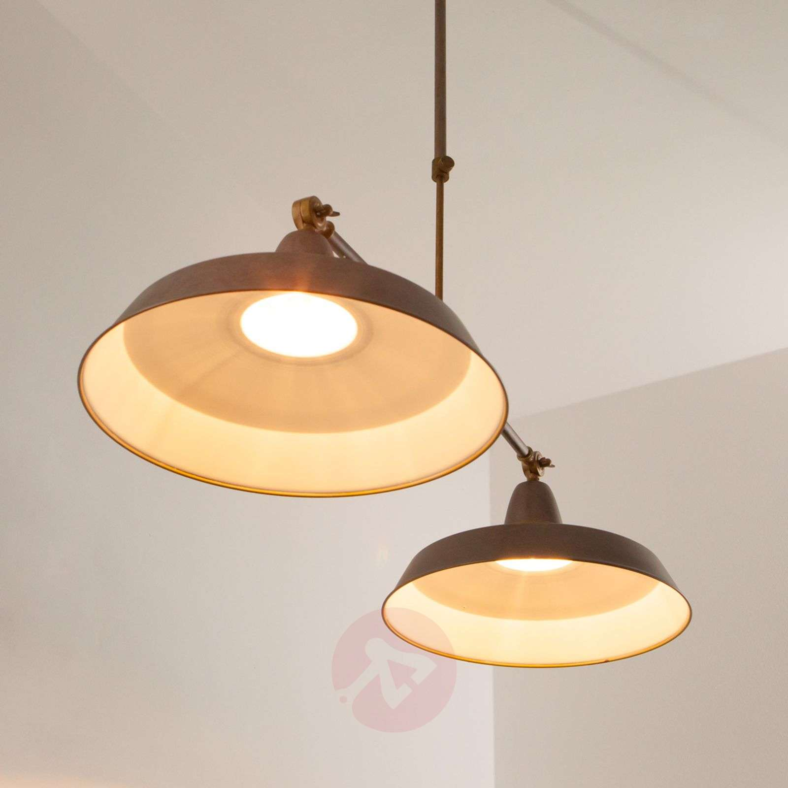 Retro hanglamp Vintage in roestbruin, 2-lichts-6026479-03