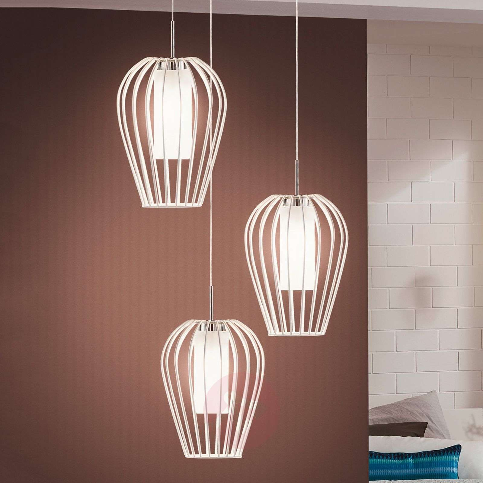 Stijlvolle LED hanglamp Vencino in wit-3031738-01
