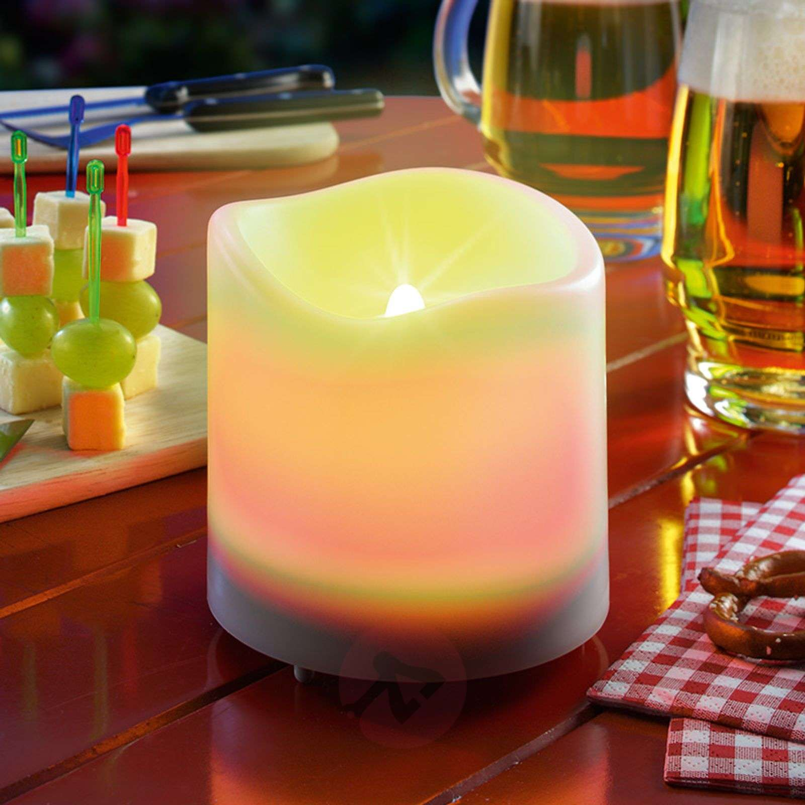 Witte LED-Solar-kaars Candle Light-3012228-01