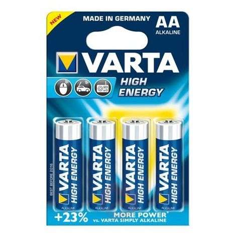High Energy batterijen Mignon 4906 AA van VARTA