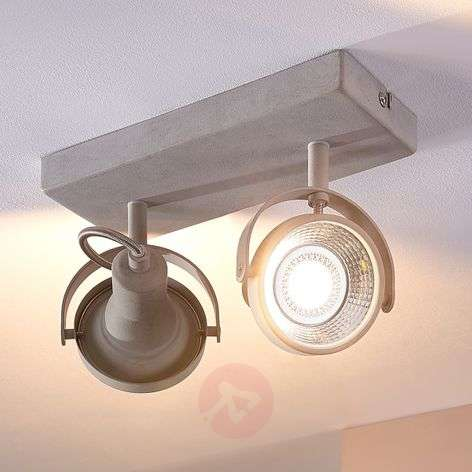 Pieter - 2-lamps LED-spot, betonlook