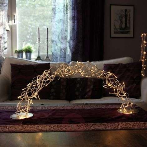 Stralend mooie LED-lichtboog Curly Bow