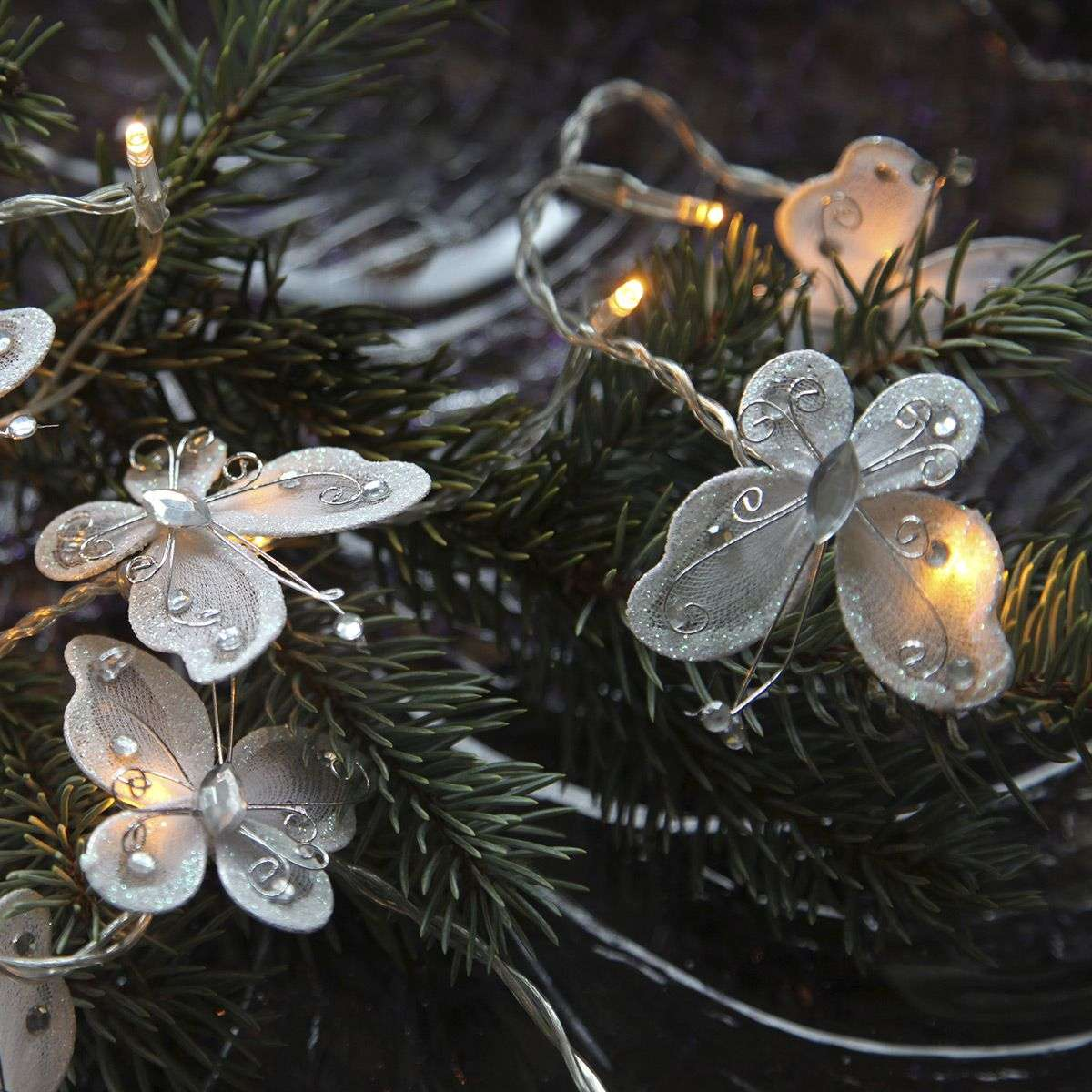 Butterfly Garland LED-lichtketting, wit-1522669-32