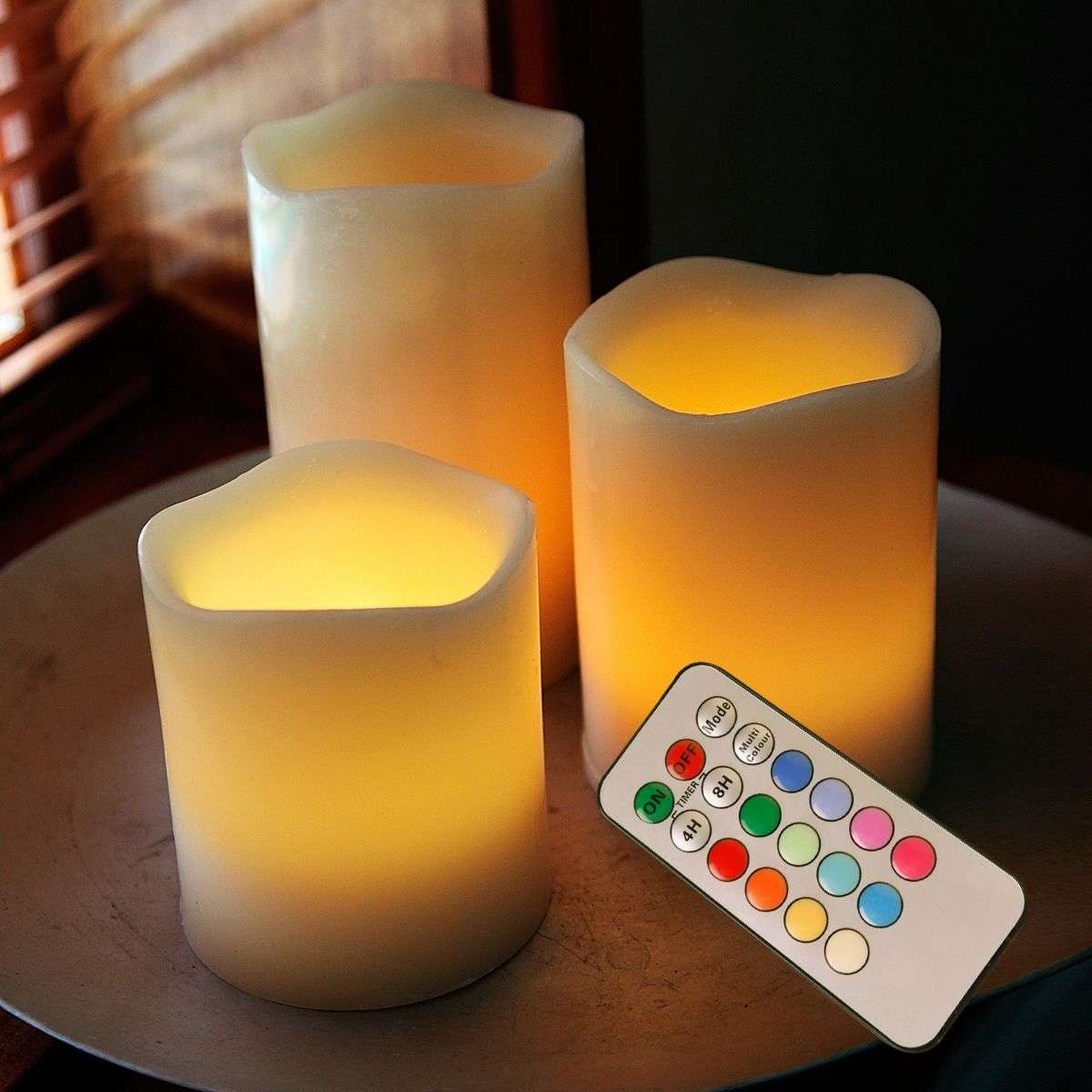 LED Candle Wax RGB kleurverandering and afstandsbed.-1522390-31