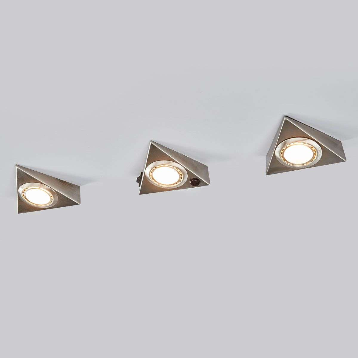 onderbouwlamp triangle met sensor in set van 3. Black Bedroom Furniture Sets. Home Design Ideas