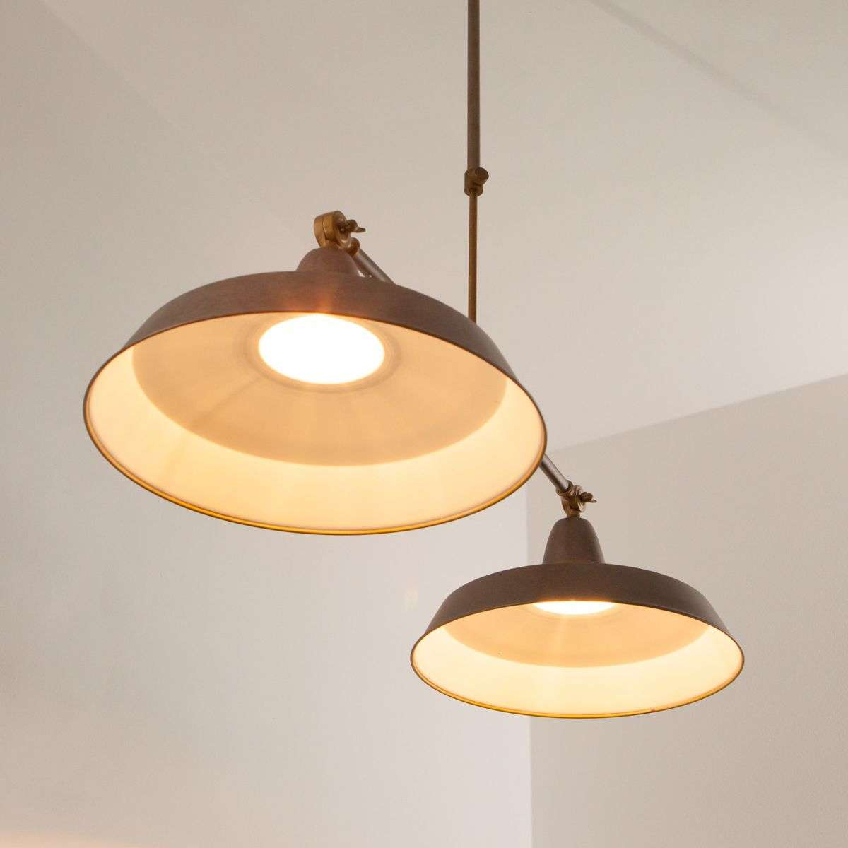 Retro hanglamp Vintage in roestbruin, 2-lichts-6026479-33