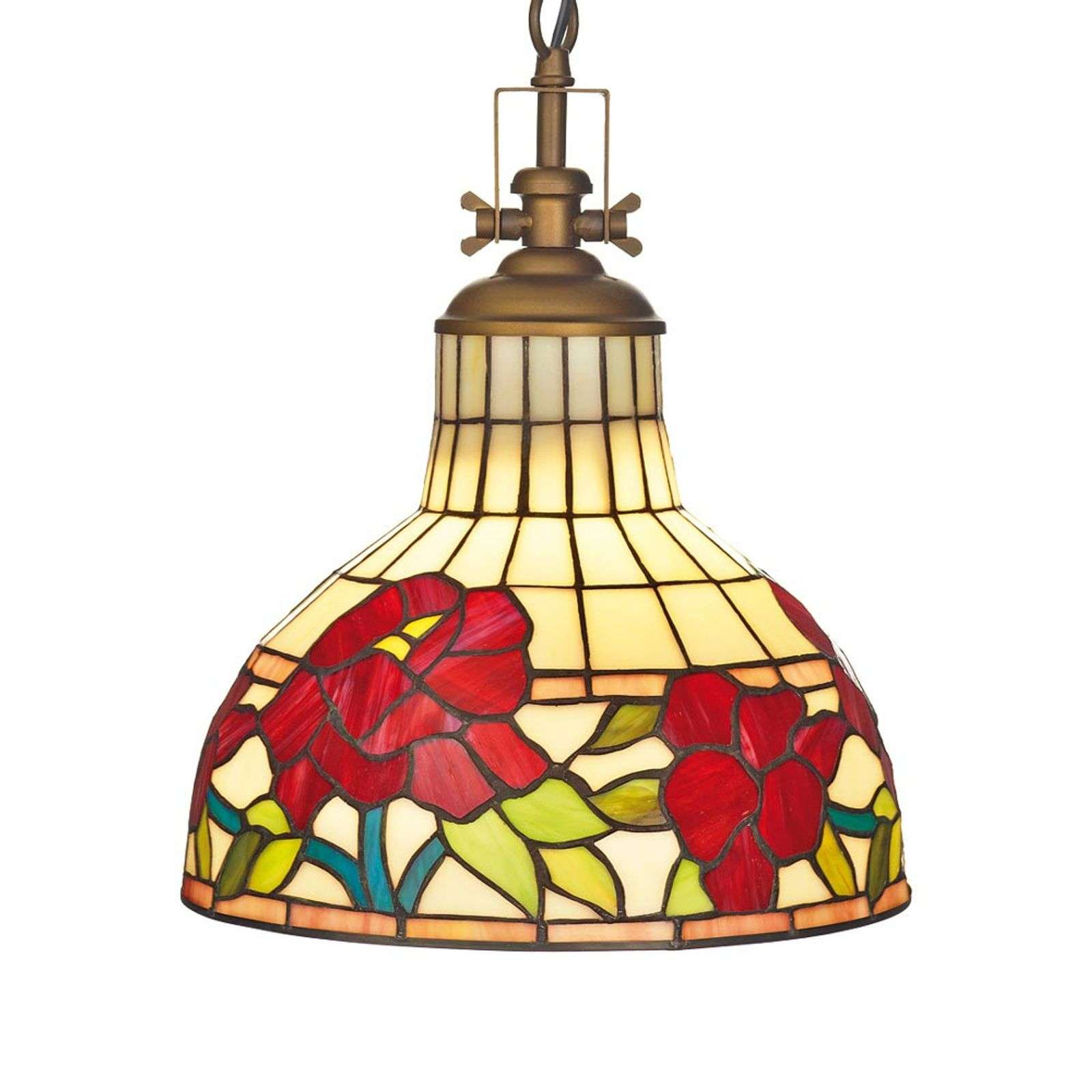 Mooie hanglamp Yria in Tiffany-stijl
