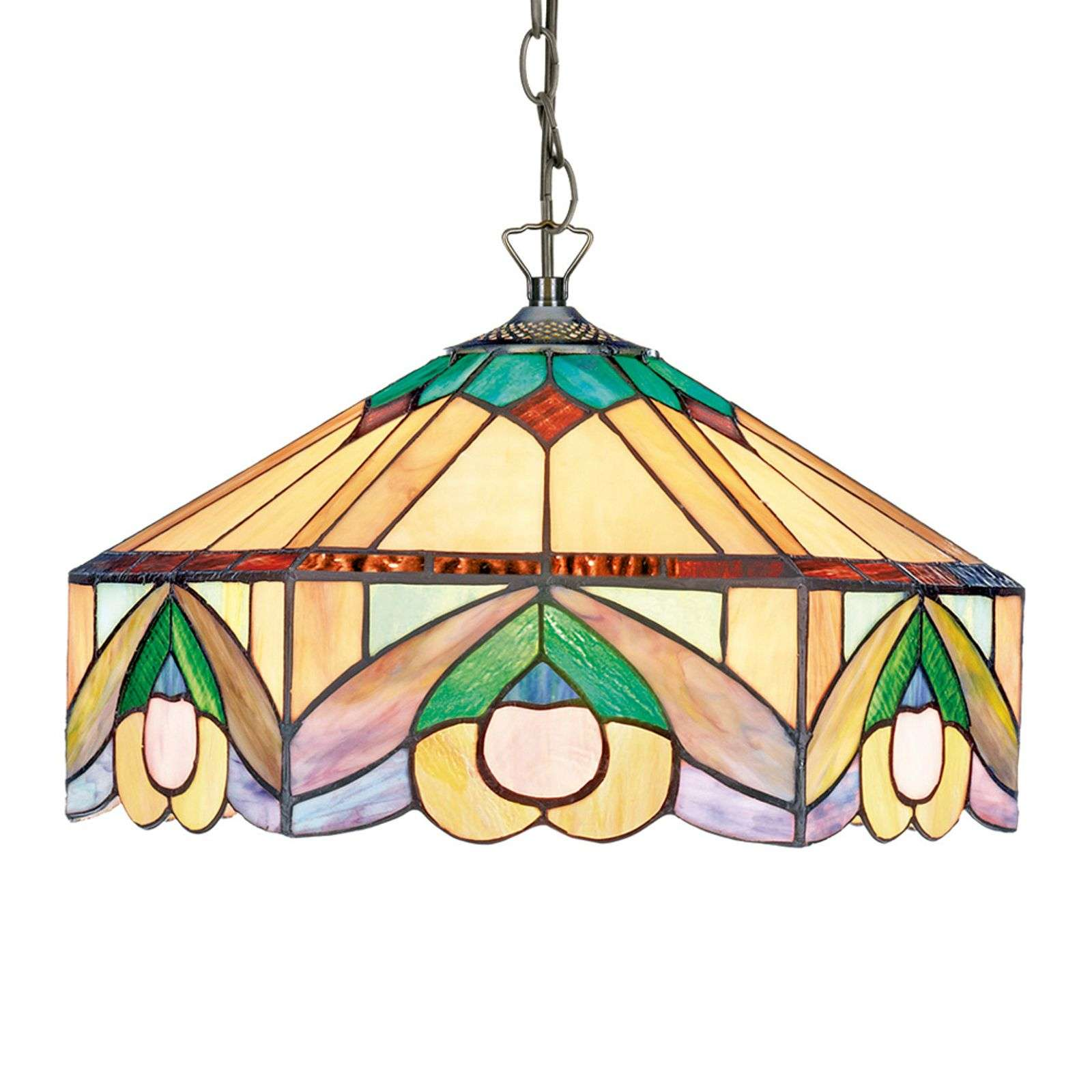 Pendellamp Iwona - in Tiffany design