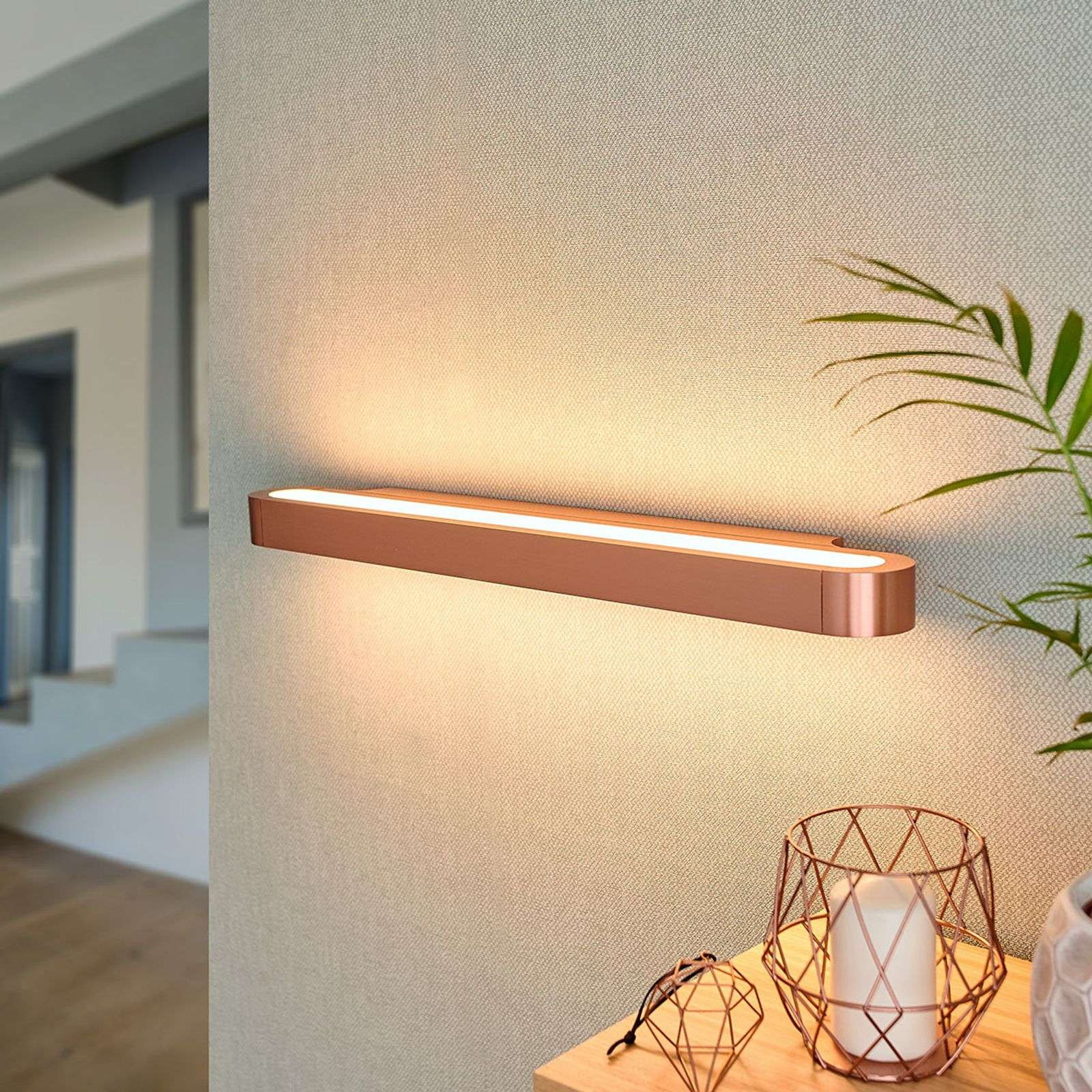 Glanzende LED design wandlamp Talo 60