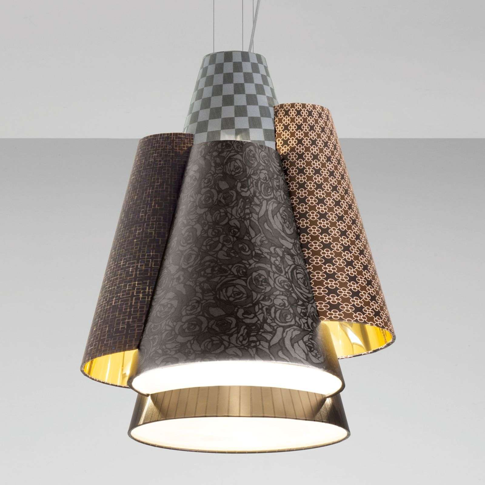 Axolight Melting Pot 60 hanglamp in bruin-goud