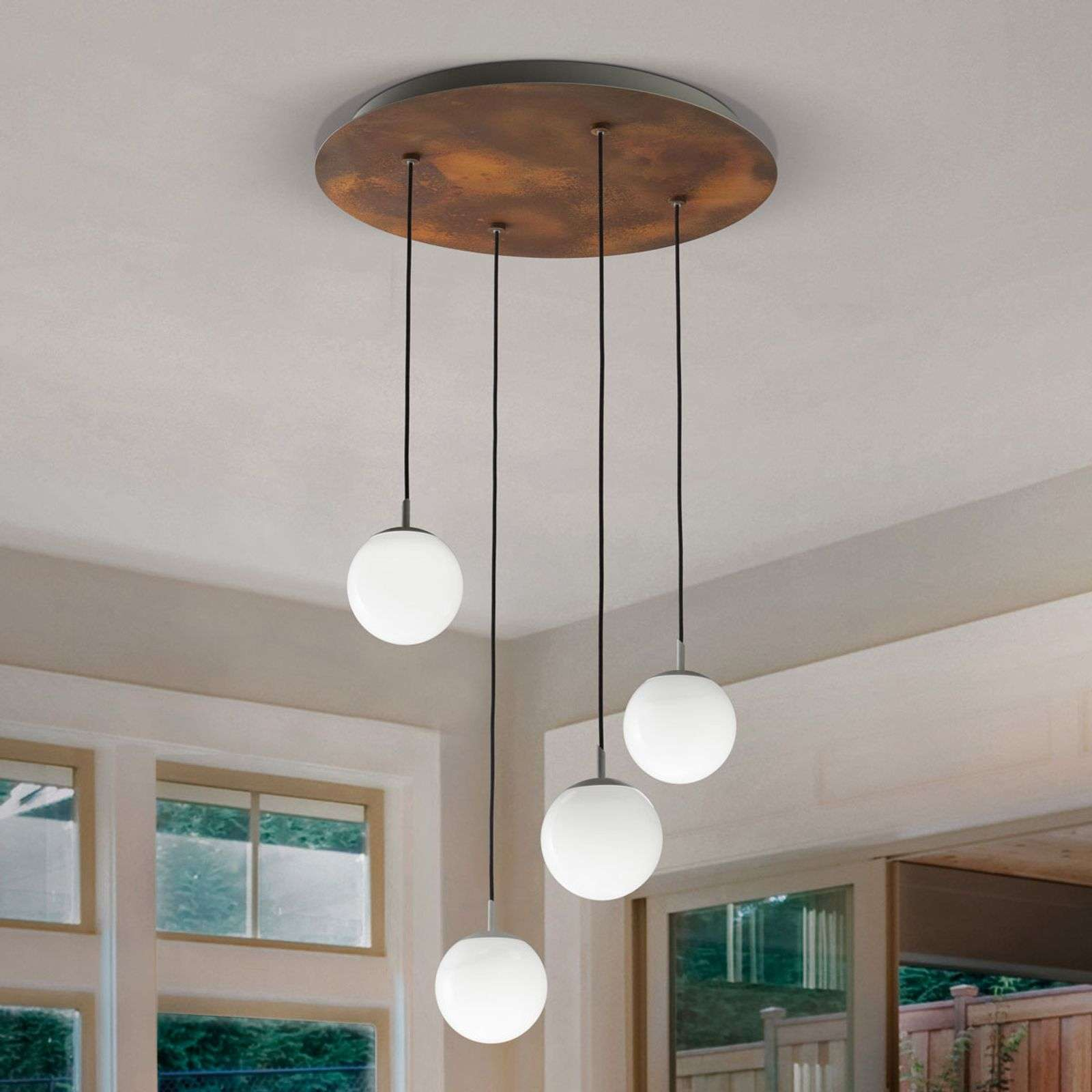 In trendy roestlook - LED hanglamp Sfera