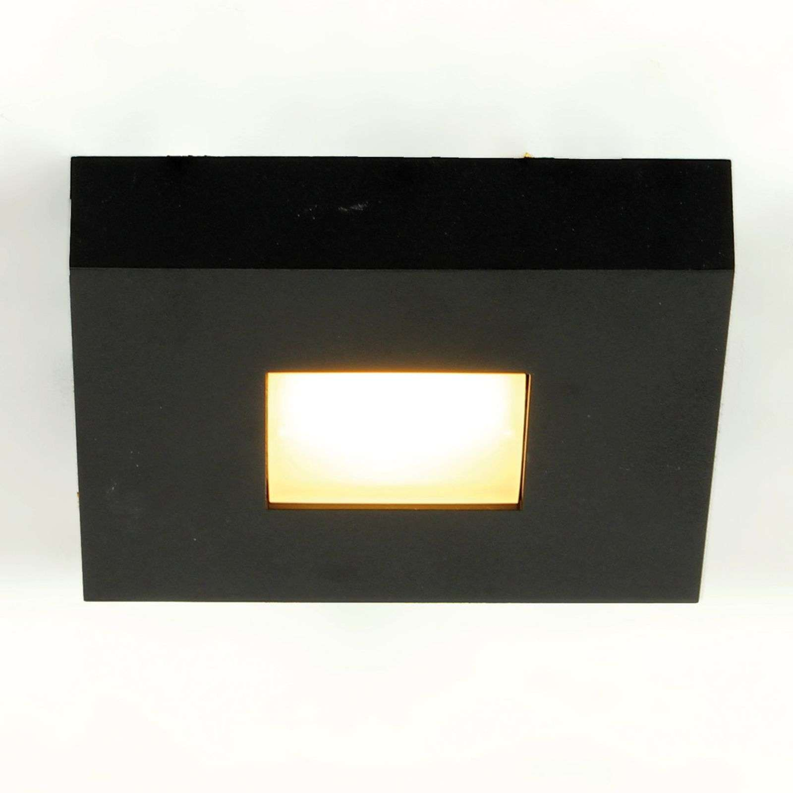 LED-plafondlamp Cubus in zwart