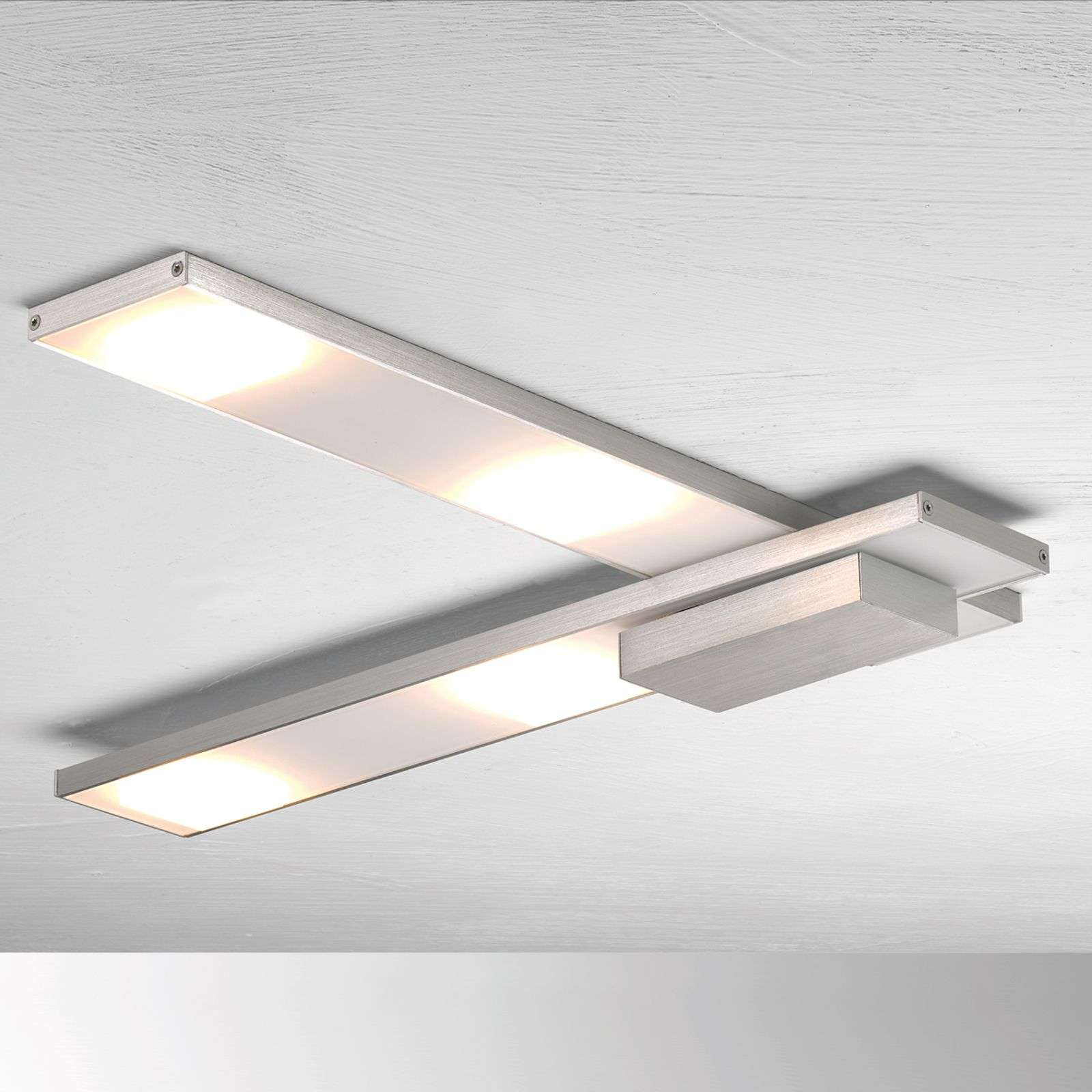 Geraffineerde LED plafondlamp Slight, aluminium