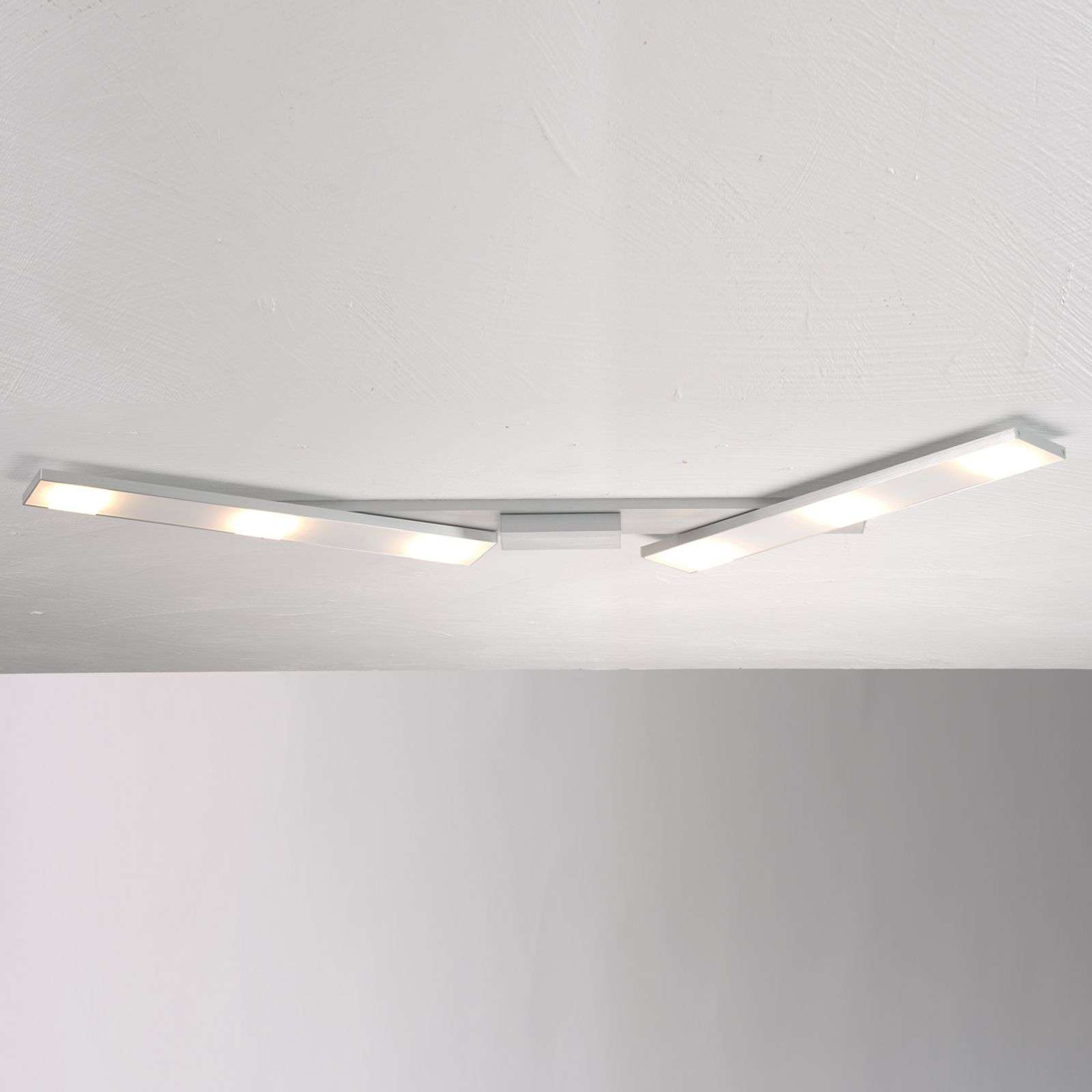 Verstelbare LED plafondlamp Slight, aluminium