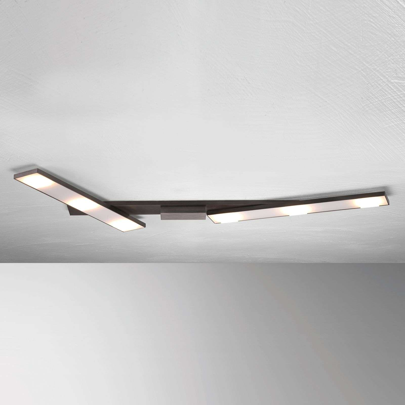 Zwenkbare LED plafondlamp Slight, antraciet