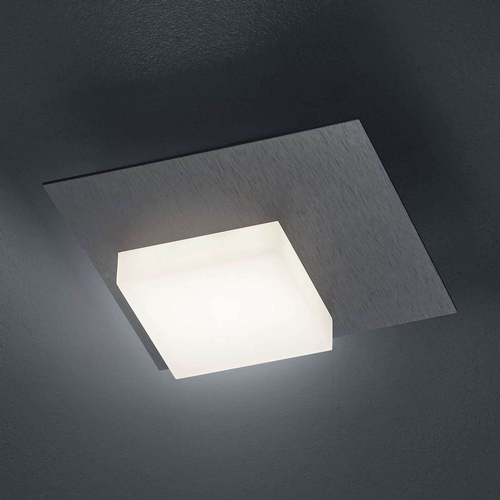 BANKAMP Cube LED plafondlamp 8W, antraciet