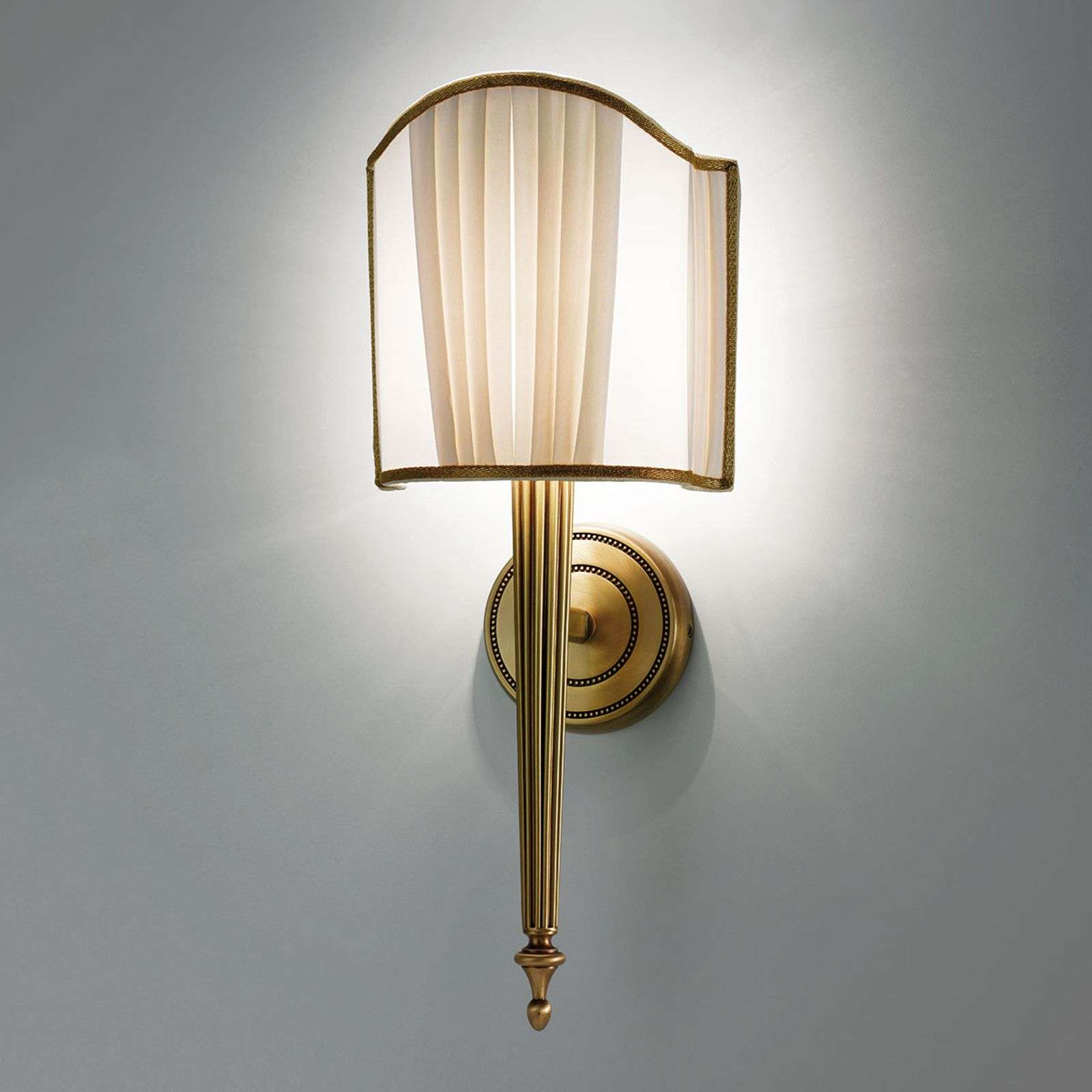 Wandlamp Belle Epoque in oud messing