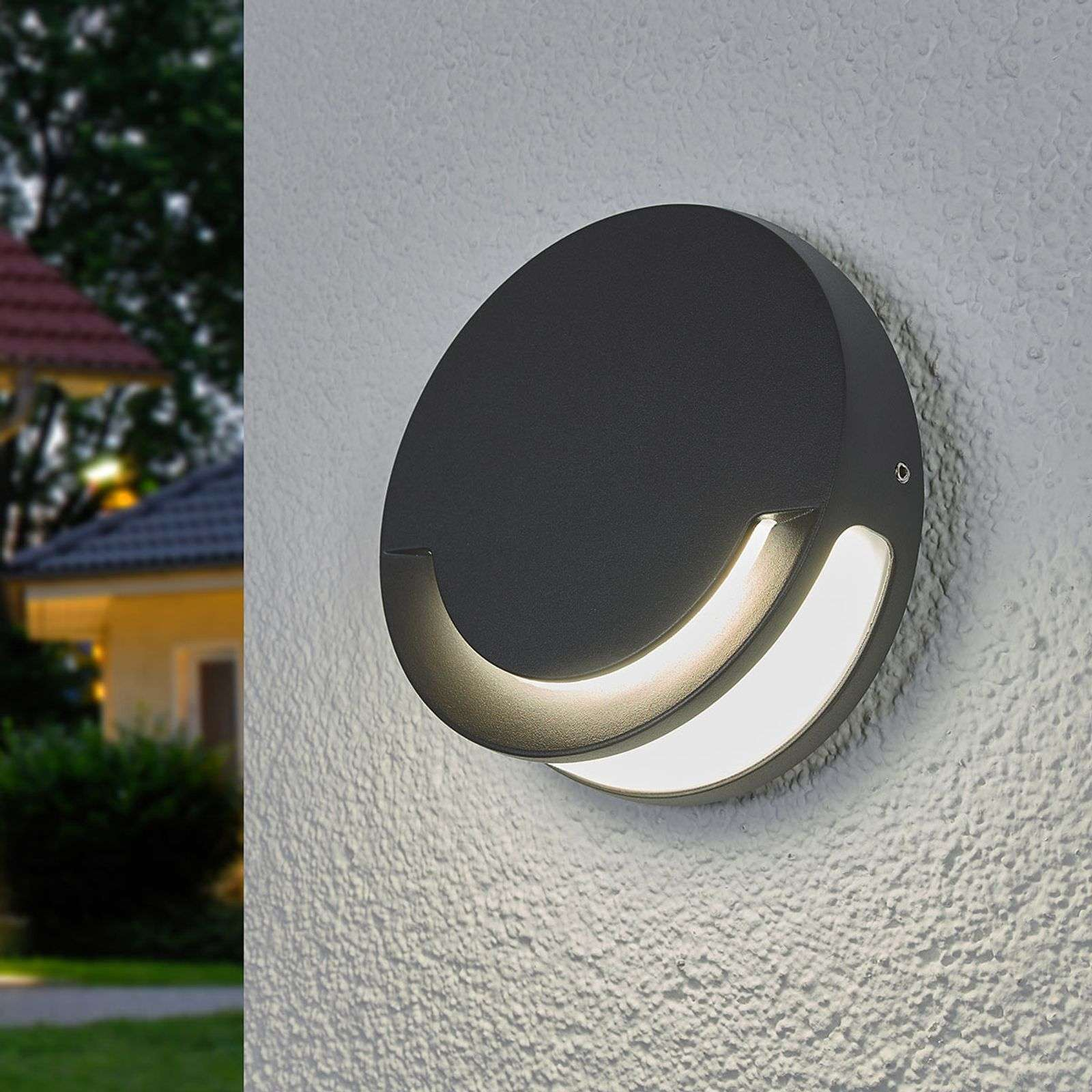 Sandwy - ronde LED outdoor wandlamp IP44