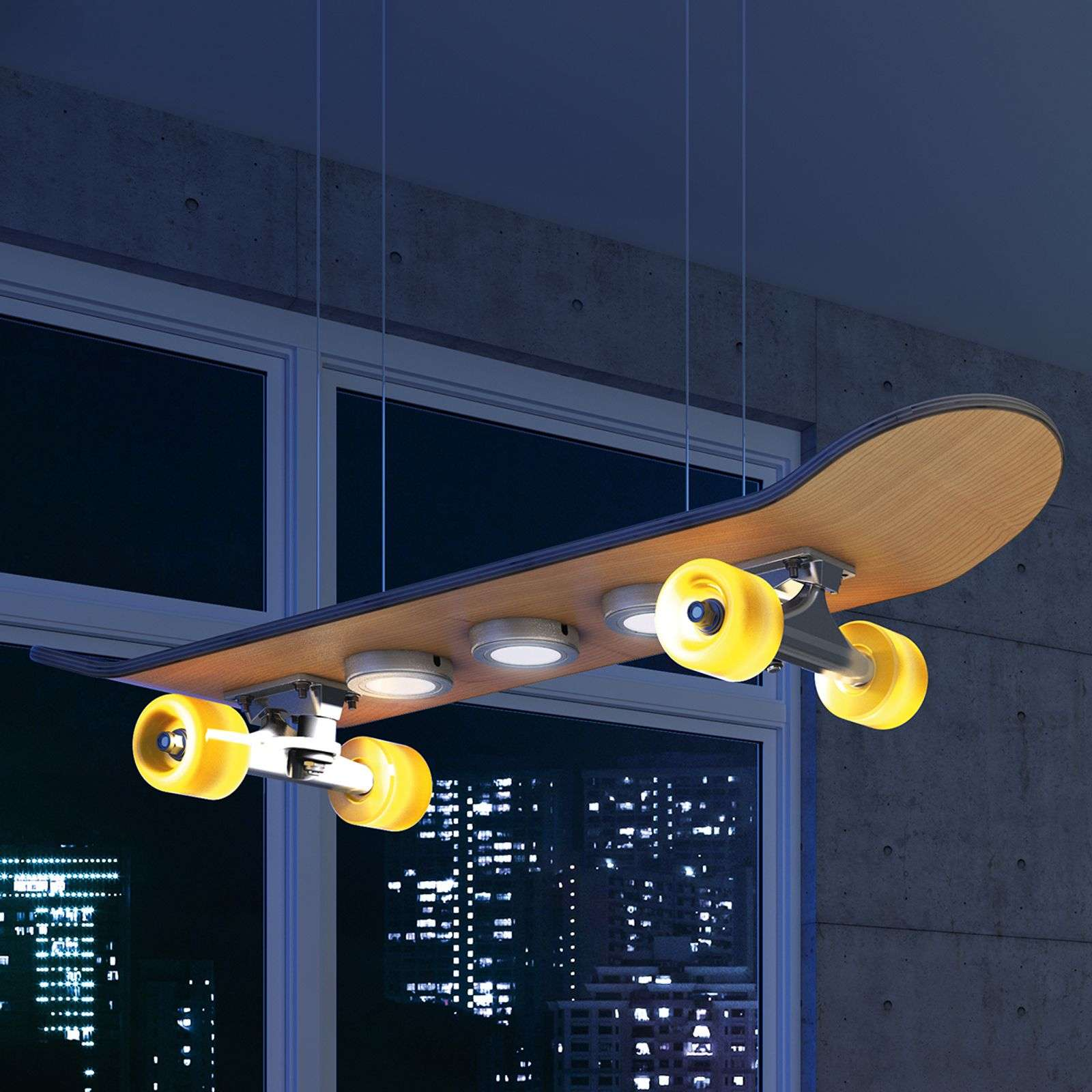 Light Cruiser - LED-pendellamp in skateboard vorm
