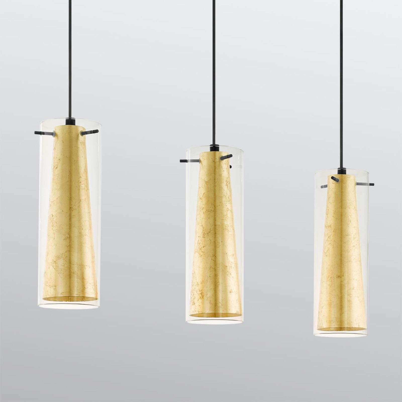 Hanglamp Pinto Gold 3-lamps