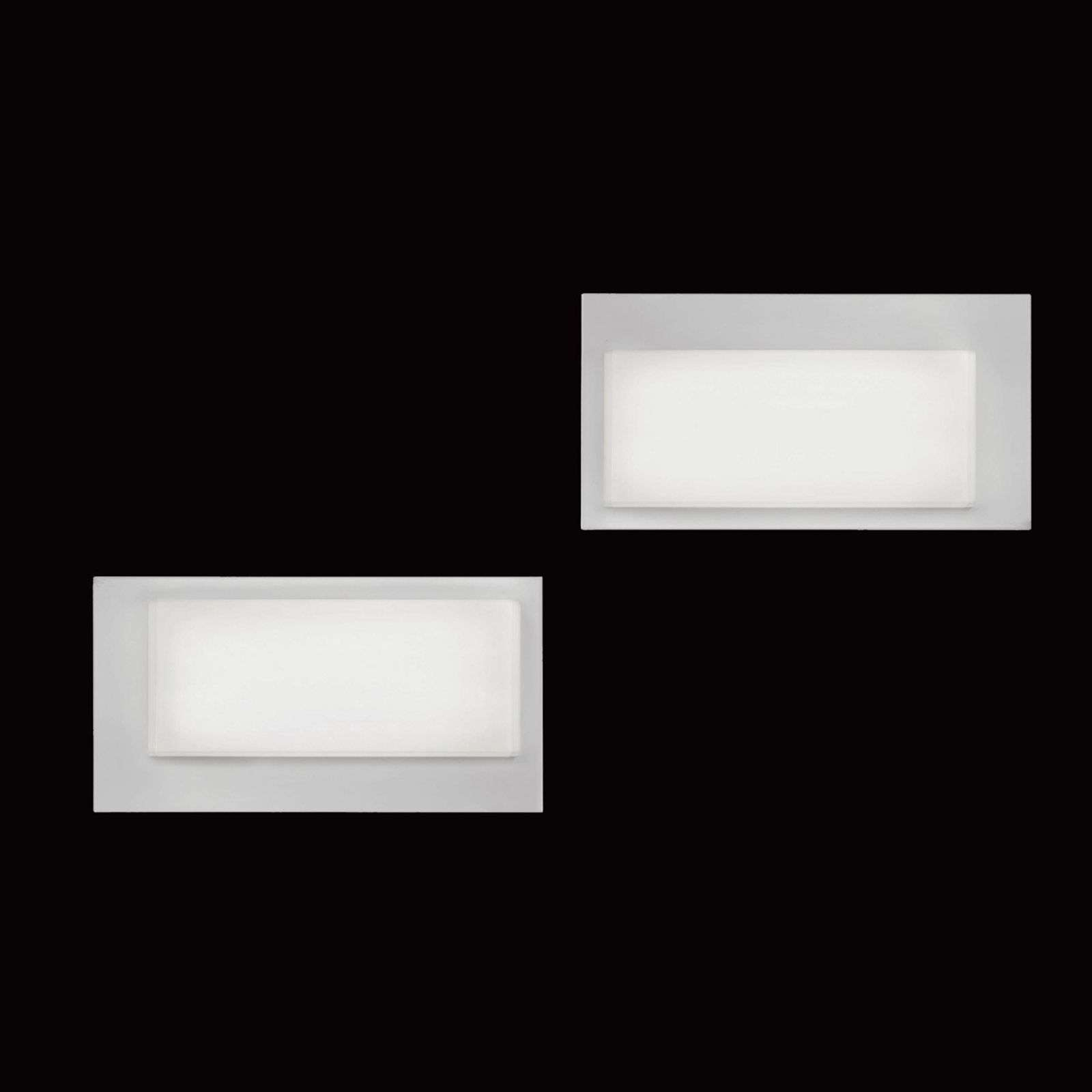 Led-wandlamp LOGIC 3000 K, wit hoogglans