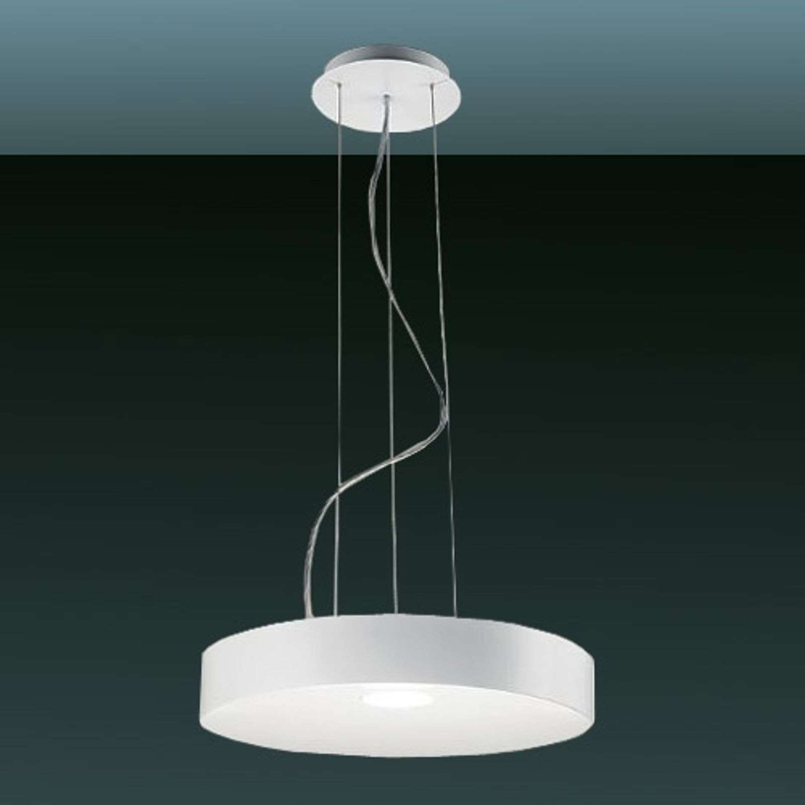 Led-hanglamp CRATER 55W, mat wit