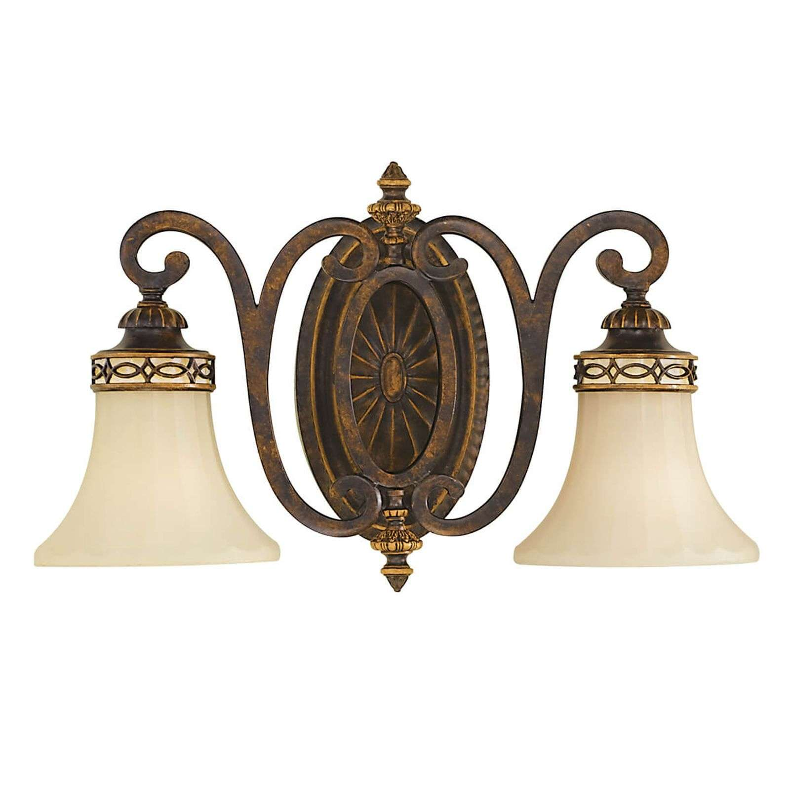 Wandlamp Drawing Room, met 2 lampjes, breed