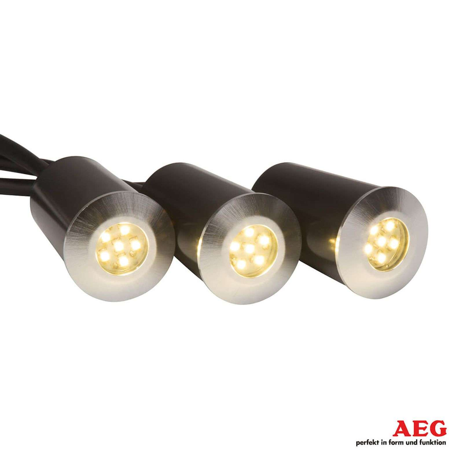 Albedo - LED grondspot inbouwlamp set van 3