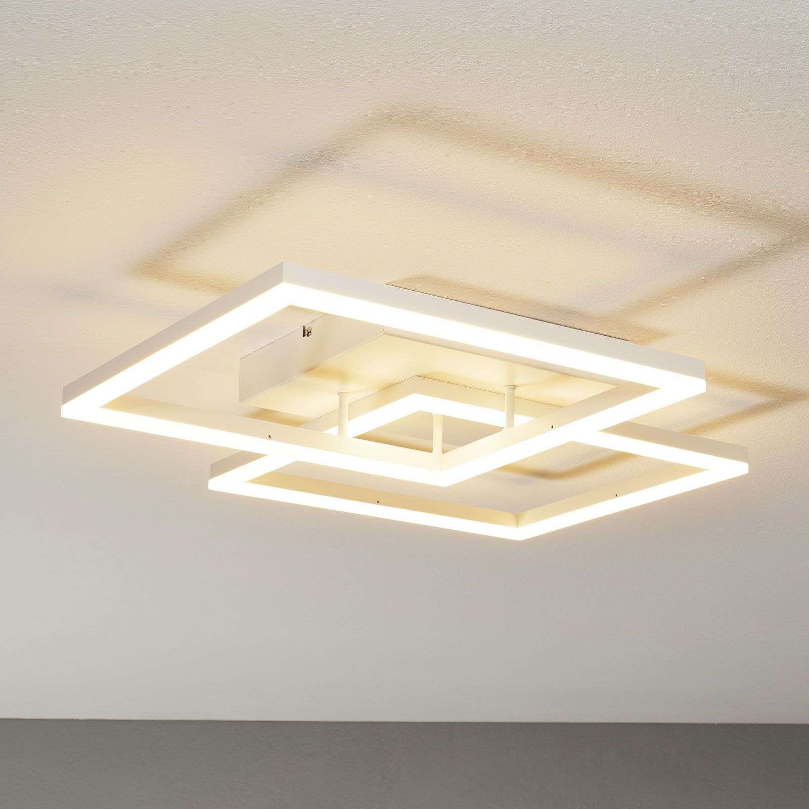 Moderne LED plafondlamp Bard in wit