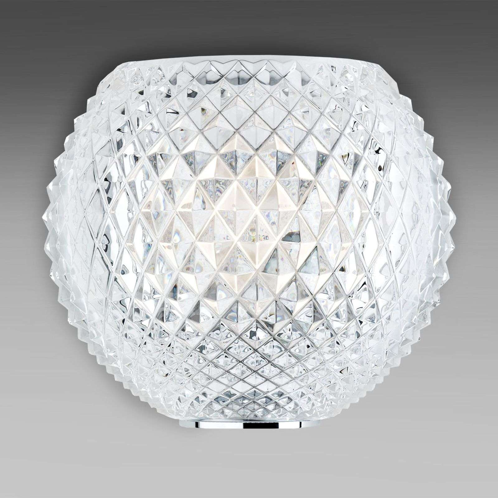 Kristal wandlamp Diamond and Swirl met patroon