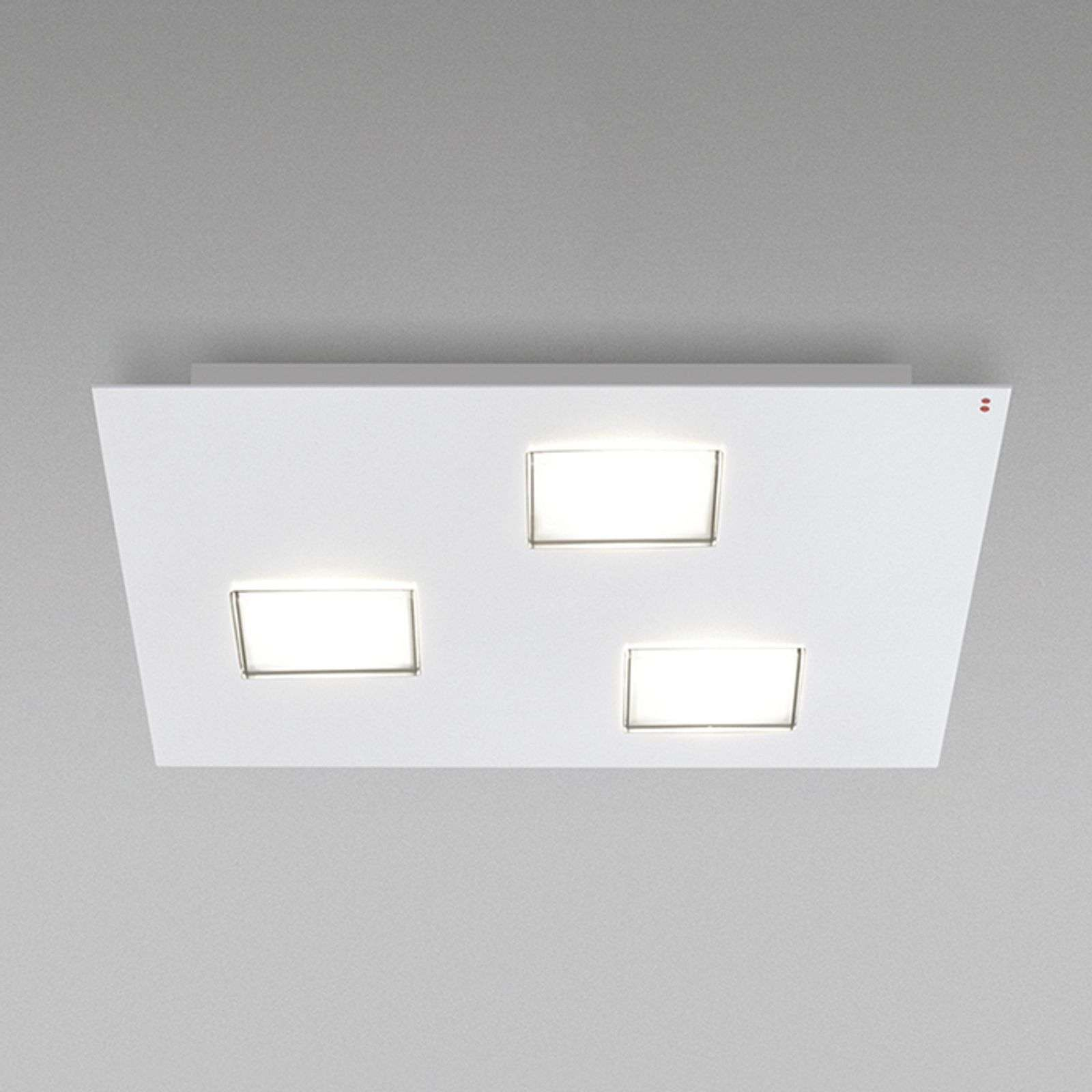 Quarter - LED plafondlamp in wit met 3 LED's