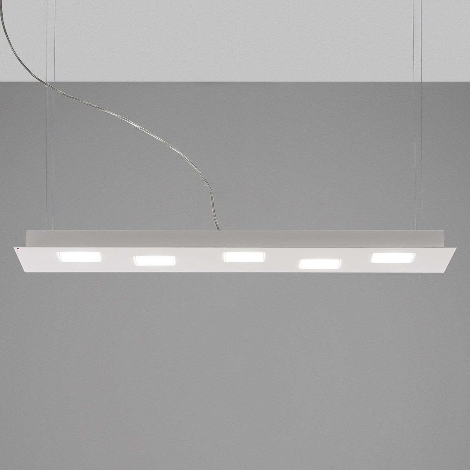 Langwerpige LED plafondlamp Quarter in wit