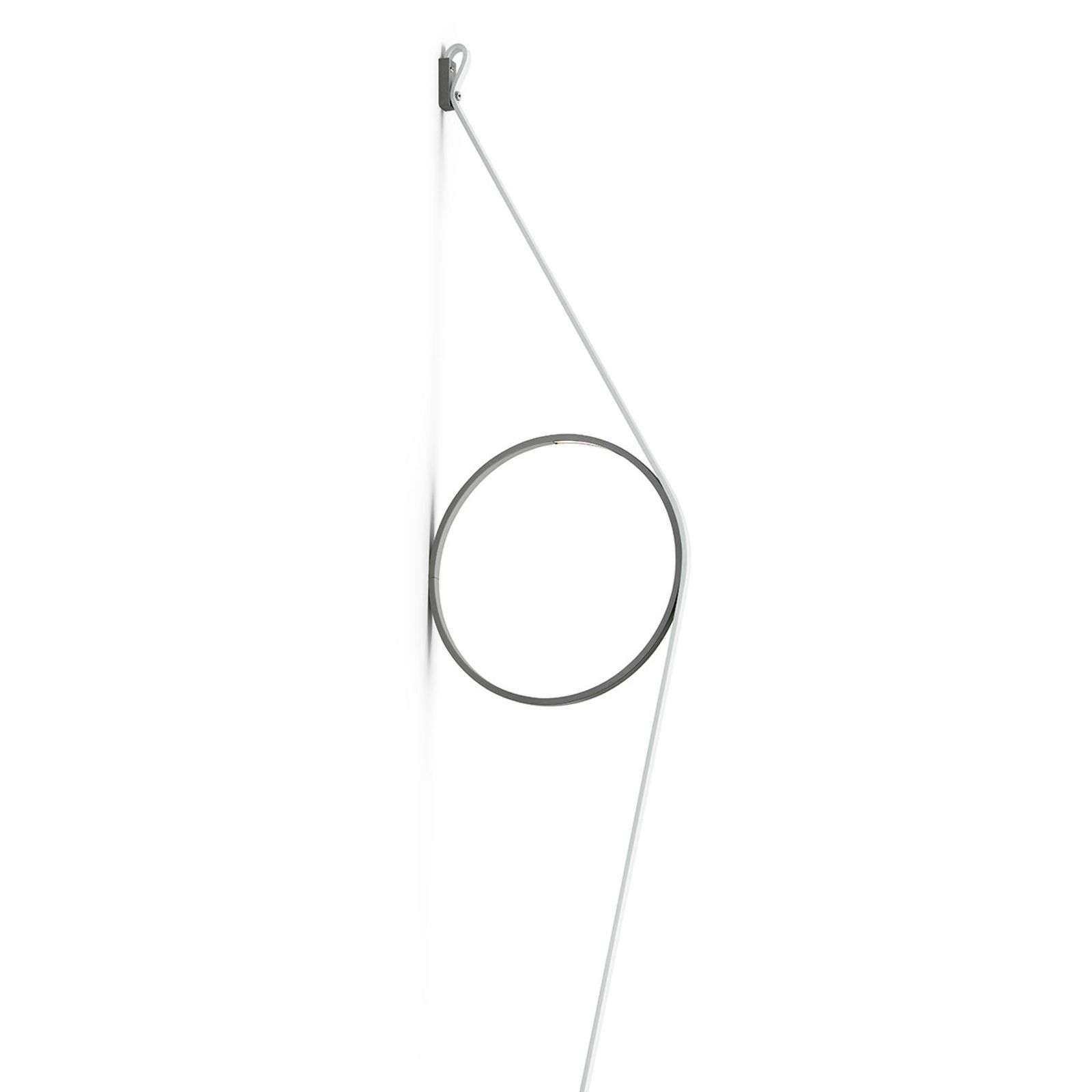 FLOS Wirering wit LED wandlamp, Ring zwart