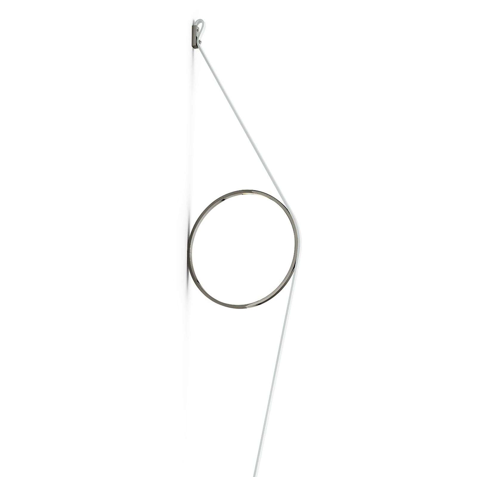 FLOS Wirering wit LED wandlamp, Ring grijs