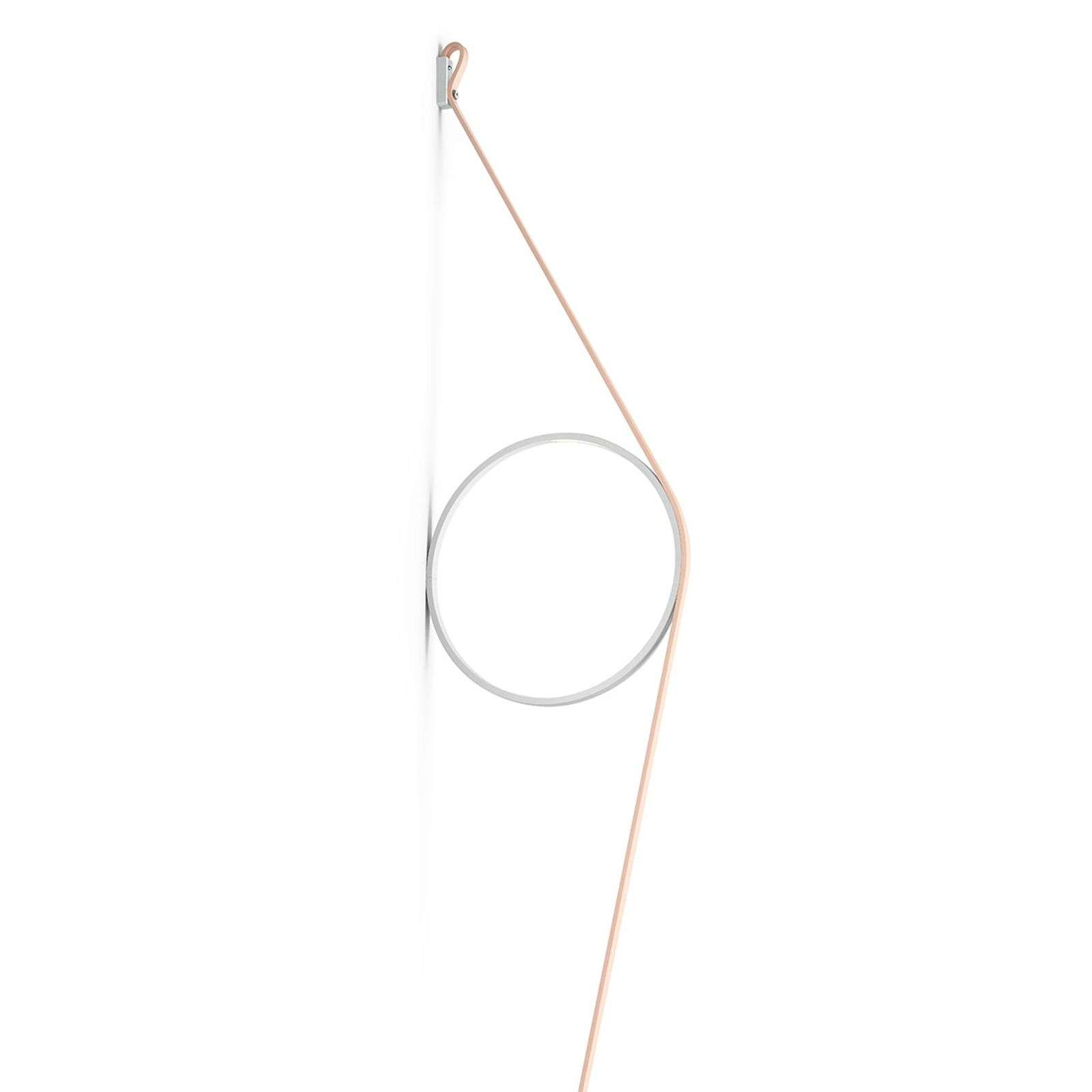 FLOS Wirering roze LED wandlamp, Ring wit