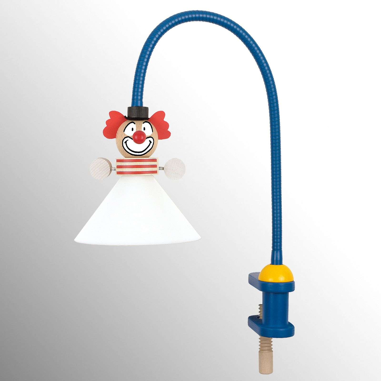 Grappige klemlamp CLOWN