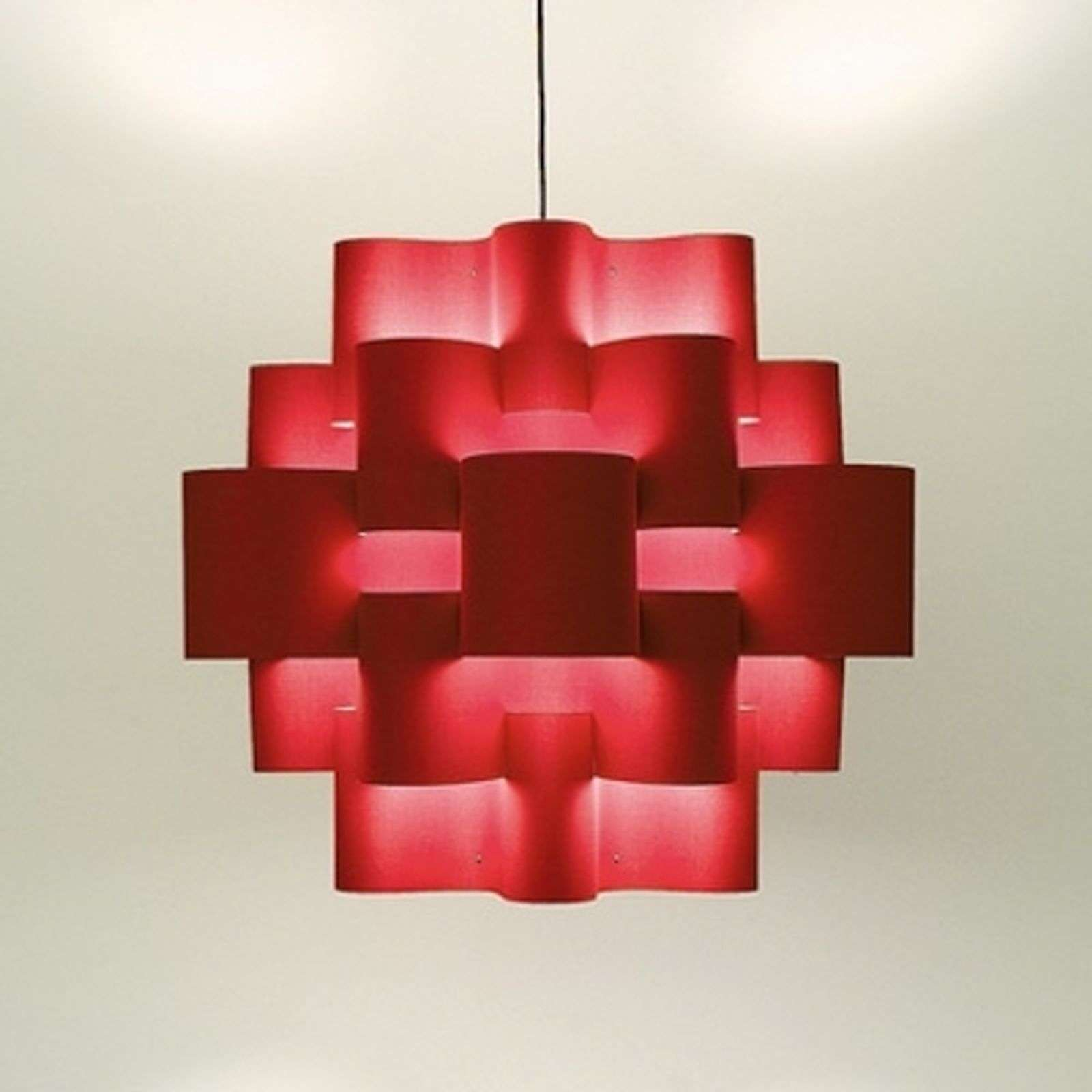Red Sun - imposante hanglamp in warm rood