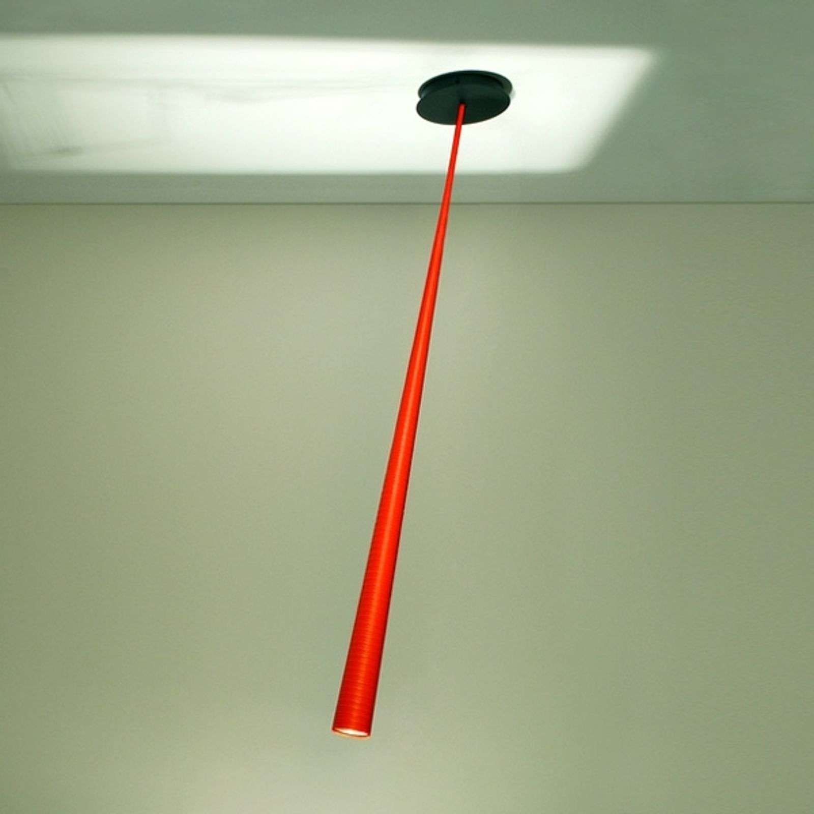 Oranje design-hanglamp Drink Color, 175 cm