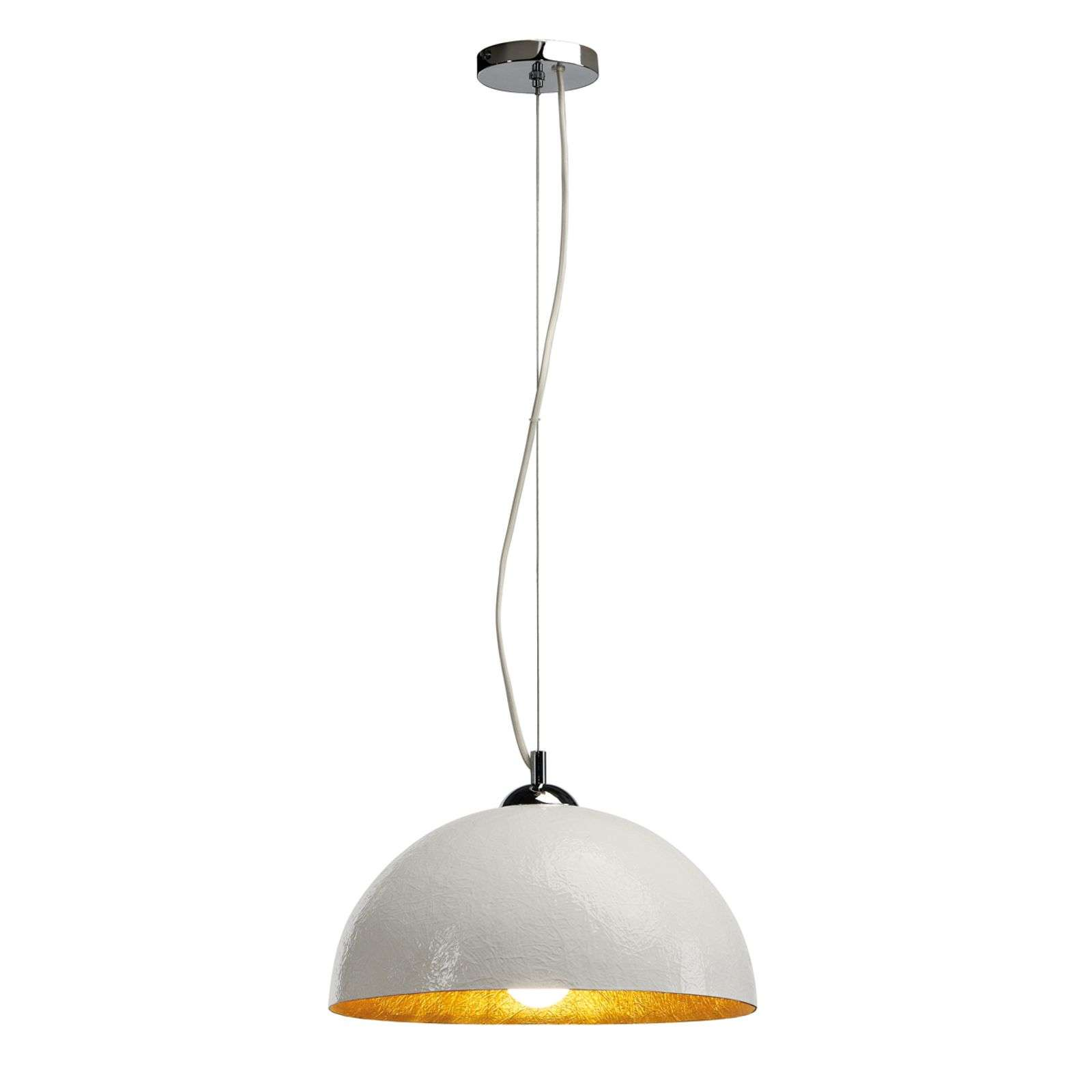 FORCHINI hanglamp klein, wit, goud