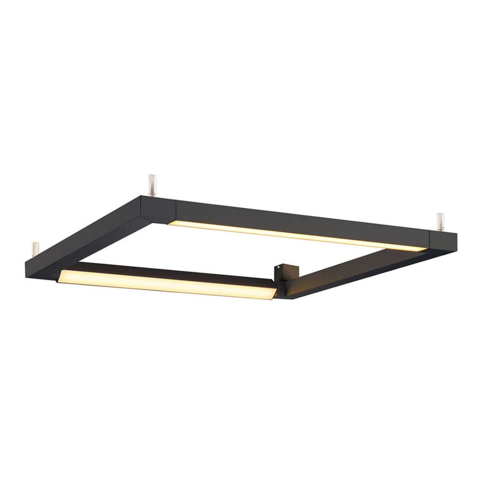 In zwart - LED plafondlamp Open Grill