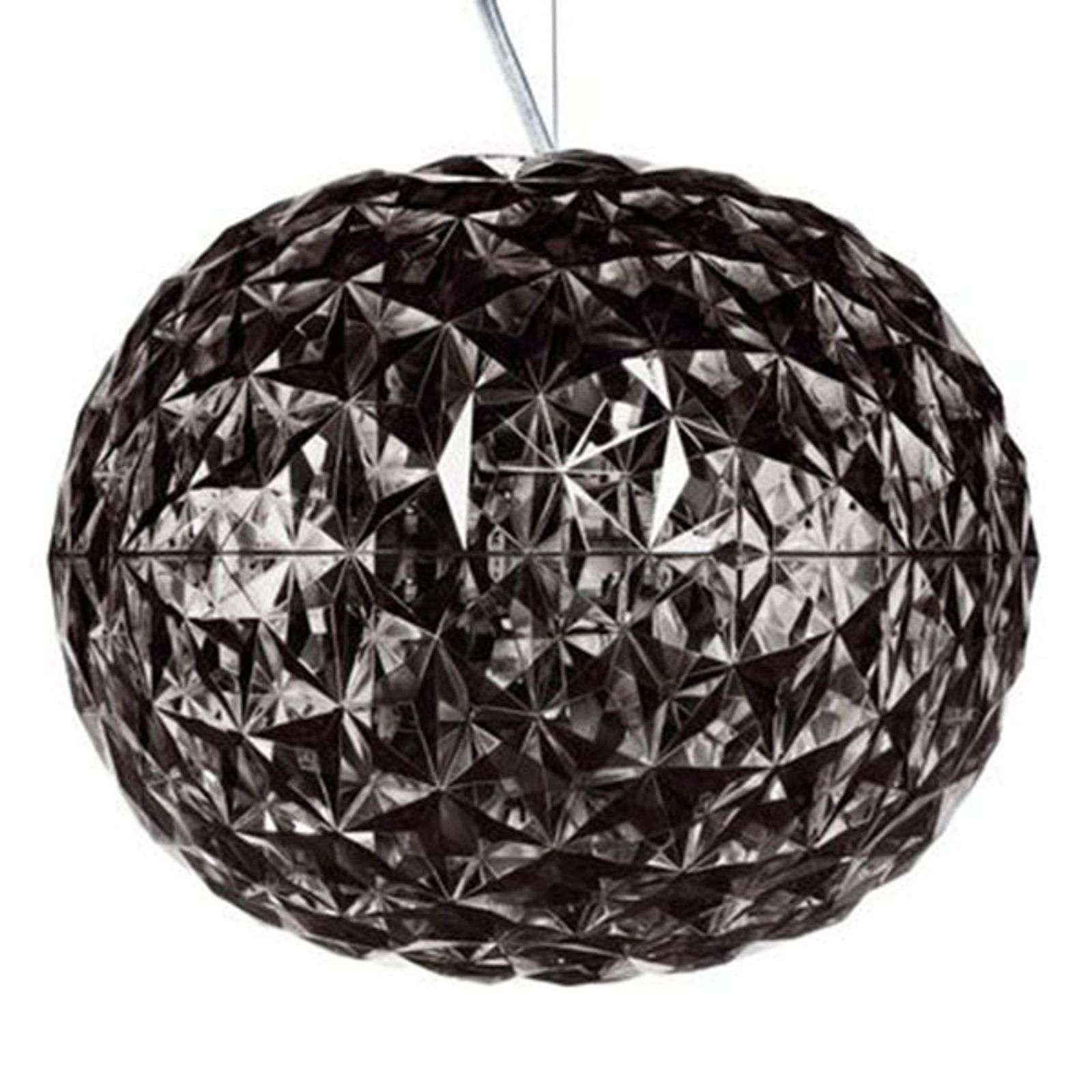 Rookgrijze LED design hanglamp Planet